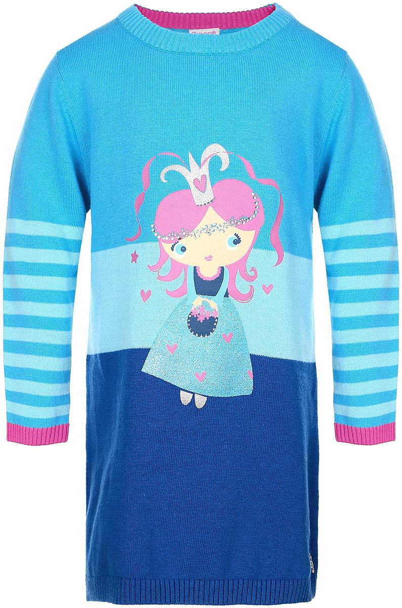 Платье205204Стильное платье для девочки Sweet Berry идеально подойдет вашей дочурке в прохладное время года. Изготовленное из качественного материала, оно необычайно мягкое и приятное на ощупь, не сковывает движения малышки и позволяет коже дышать, не раздражает даже самую нежную и чувствительную кожу ребенка, обеспечивая ему наибольший комфорт. Вязаное платье с длинными рукавами и круглым вырезом горловины на груди украшено принтом с изображением девочки. Низ платья, рукава, вырез горловины связаны мелкой резинкой. Это модное детское платье послужит отличным дополнением к гардеробу вашей маленькой принцессы. В нем она будет чувствовать себя уютно и комфортно, и всегда будет в центре внимания!