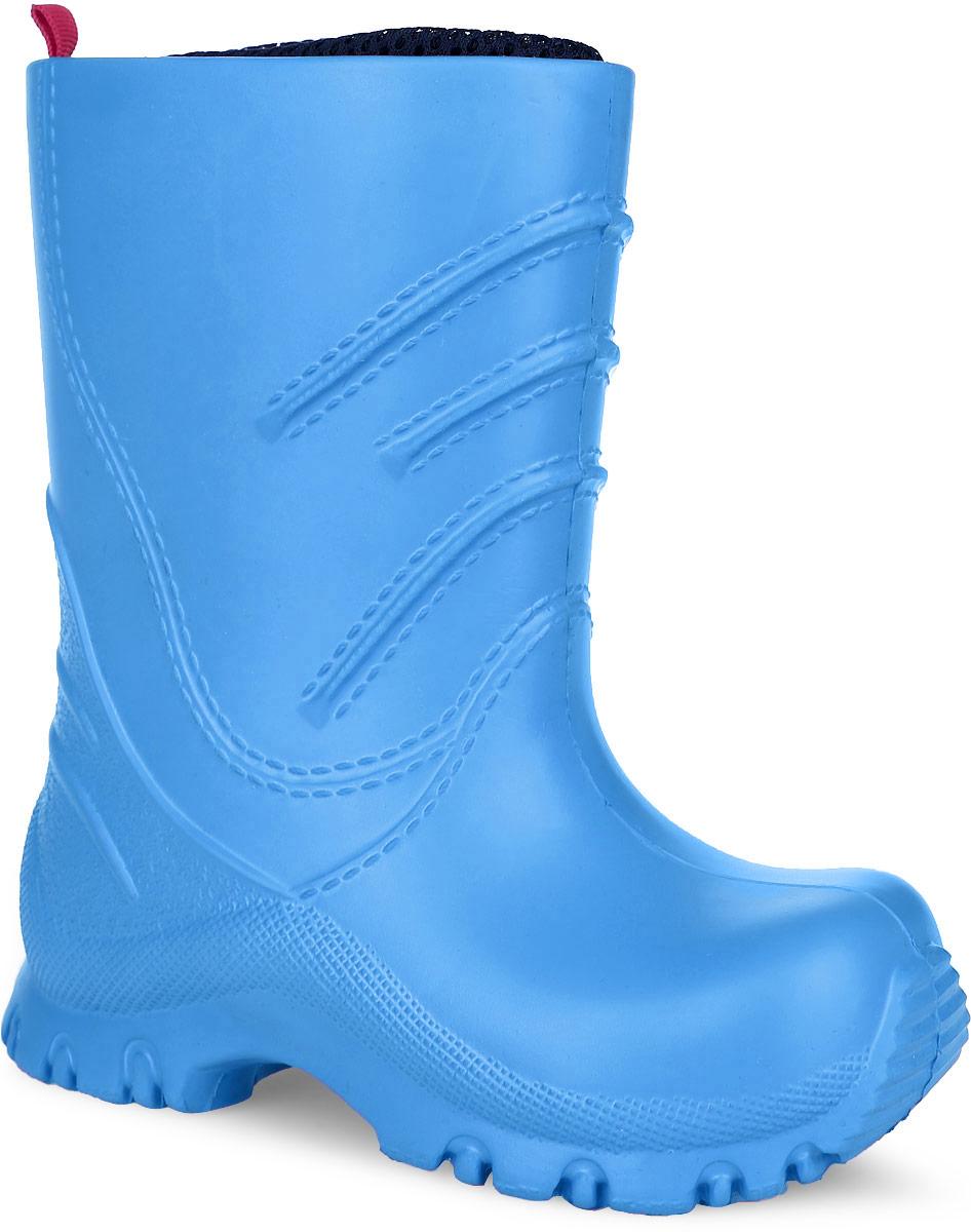 569281-2350Детские резиновые сапоги Reima Frillo - идеальная обувь в дождливую погоду. Сапоги выполнены из ЭВА (этиленвинилацетат). Модель оснащена съемным текстильным носком, который обеспечит ногам ребенка комфорт. Подошва с протектором предотвращает скольжение. В таких резиновых сапогах ножкам ребенка будет уютно.