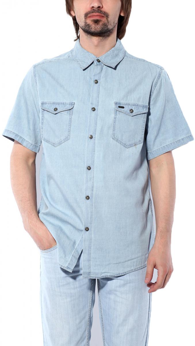 Рубашка11064 LBМужская рубашка Montana выполнена из натурального хлопка. Модель с отложным воротником и короткими рукавами застегивается на пуговицы по всей длине. Спереди расположено два накладных кармана на пуговицах. Изделие оформлено фирменной металлической нашивкой.