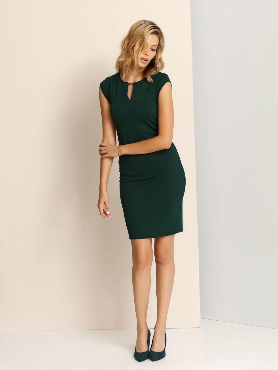 ПлатьеSSU1662ZIЭлегантное платье Top Secret, изготовленное из сочетания высококачественных материалов, оно мягкое на ощупь, не раздражает кожу и хорошо вентилируется. Модель с круглым вырезом горловины и короткими рукавами на спинке застегивается на потайную застежку-молнию. Верх платья оформлен небольшим вырезом и украшен декоративным элементом.