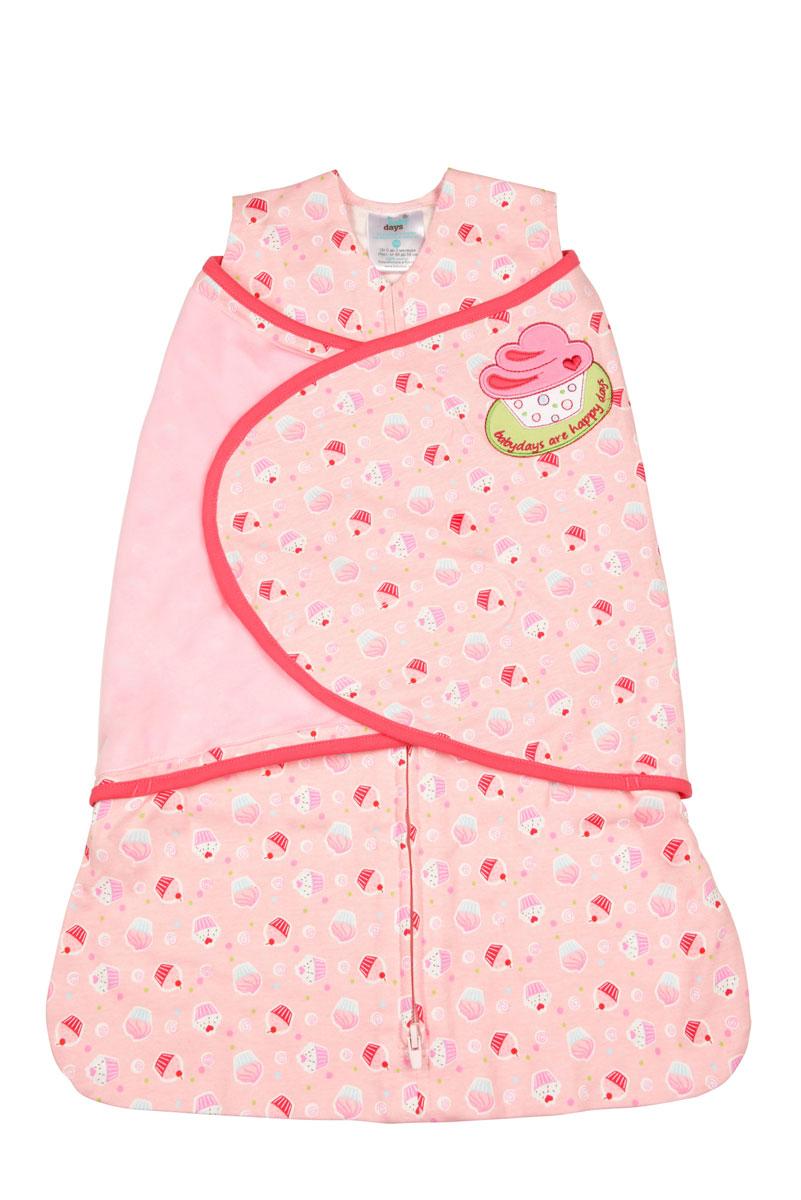 Конверт для новорожденногоbd20001-1Спальный конверт для девочки Babydays Пирожное изготовлен из натурального хлопка. Изделие необычайно мягкое и легкое, не раздражает нежную кожу ребенка, хорошо вентилируется. Модель спроектирована с учетом максимальной безопасности и комфорта, заменяя традиционные одеяльца, которые могут закрыть малышу лицо и затруднить дыхание. Безрукавный крой снижает риск перегрева. Свободный крой не сковывает движения, что важно для правильного развития тазобедренного сустава. Конверт застегивается на пластиковую застежку-молнию снизу вверх, что делает удобным смену подгузников и не травмирует подбородок малыша, и дополнительно запахом на липучки. Модель спального конверта позволяет держать руки малыша как внутри, так и снаружи. Два способа пеленания ребенка показаны на инструкции по использованию. Оформлено изделие принтом с изображением пирожных, украшено аппликацией и вышитыми надписями. Спальный конверт полностью соответствует особенностям жизни ребенка...