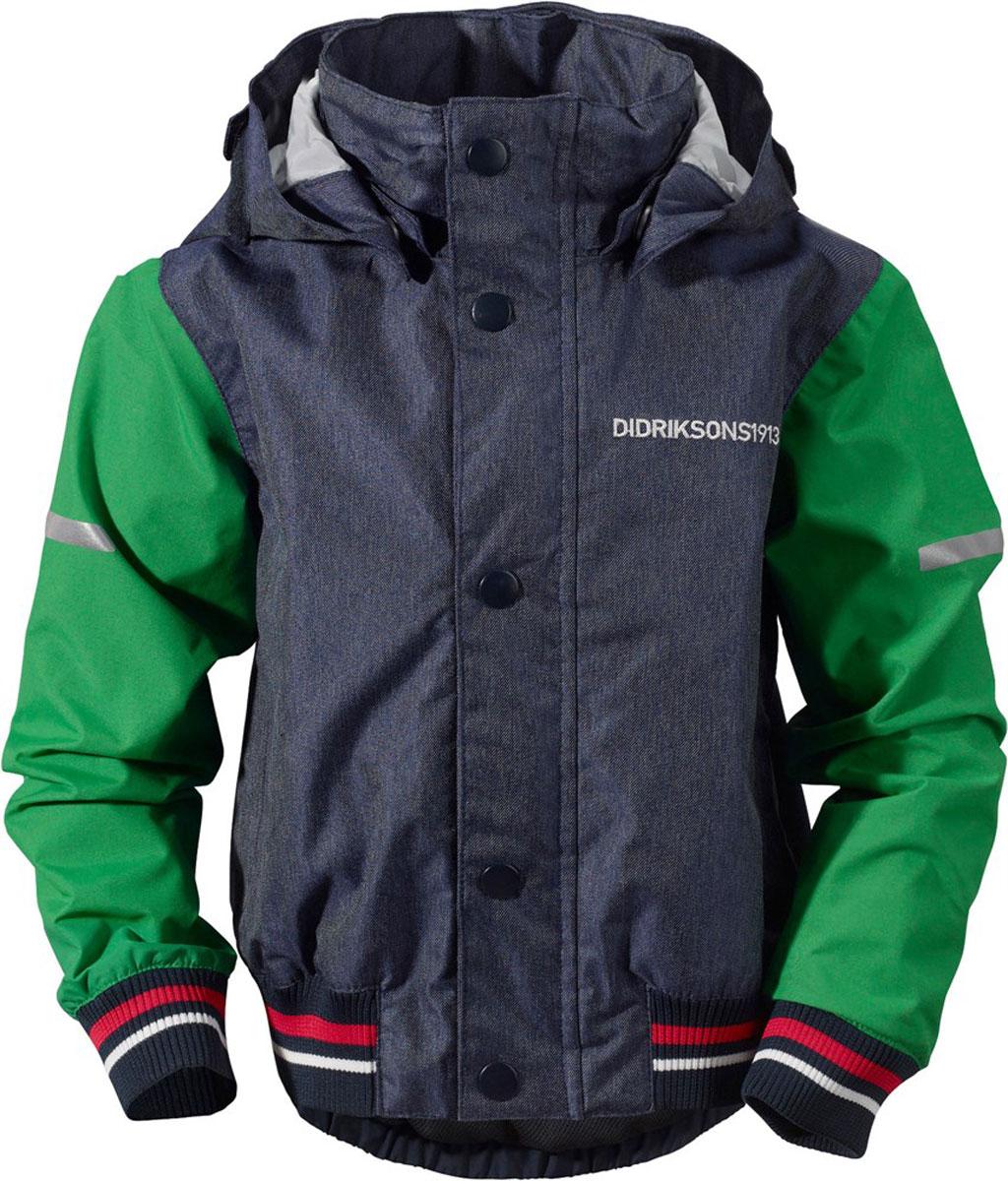 Куртка500786_188Детская куртка в стиле бомбер выполнена из непромокаемой и непродуваемой мембранной ткани. Спереди расположены скрытые карманы. Съемный капюшон. Регулируемые манжеты и низ изделия. Светоотражатели. Модель растет вместе с ребенком: уникальный крой изделия позволяет при необходимости увеличить длину рукавов на один размер, распустив специальный внутренний шов. Рассчитана на температуру от +10 до +18.