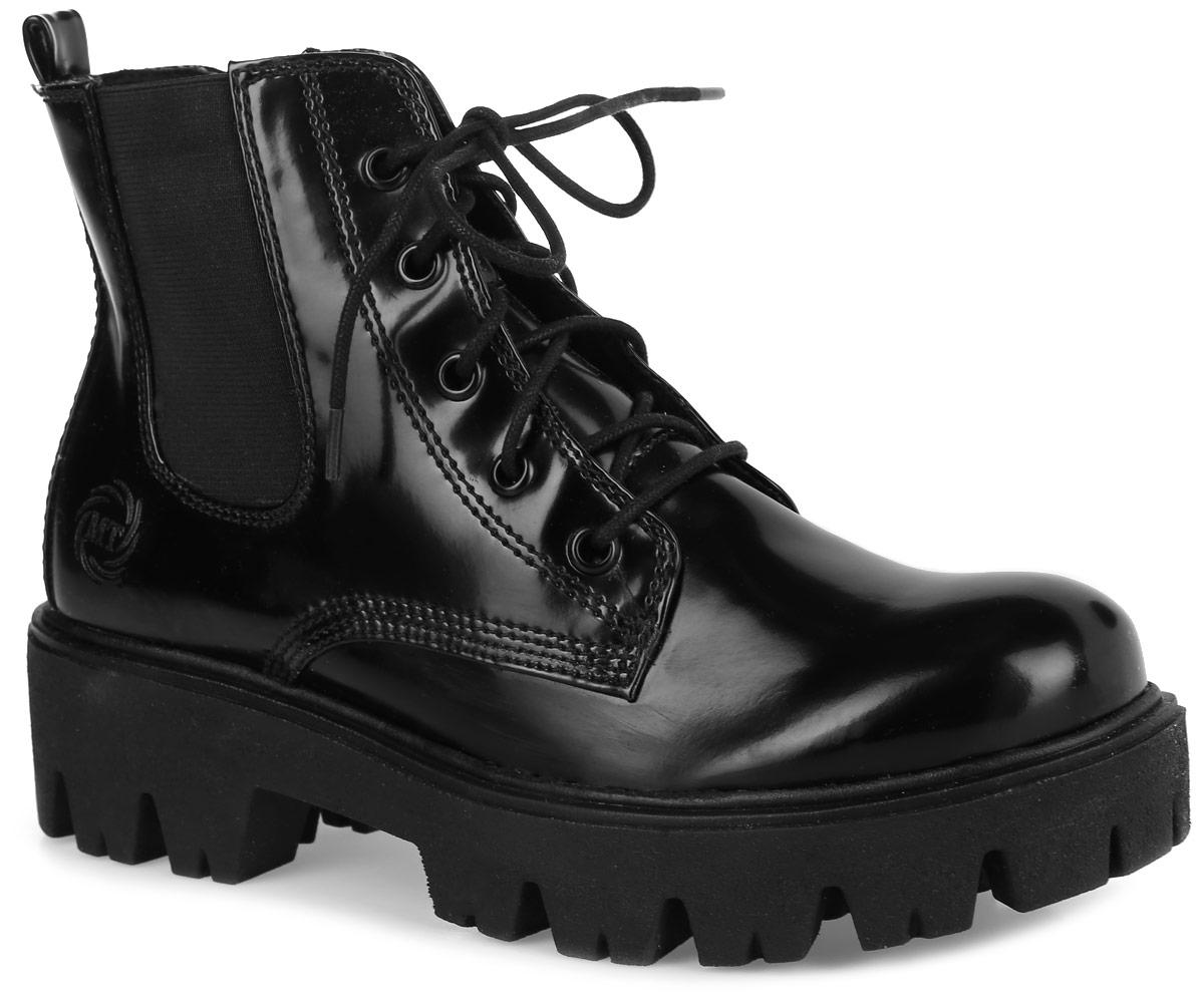 2-25232-27-025Стильные ботинки Marco Tozzi придутся вам по душе. Модель выполнена из искусственной глянцевой кожи. Задник оформлен тиснением в виде логотипа бренда и ярлычком, облегчающим процесс надевания обуви. Классическая шнуровка и молния надежно зафиксируют модель на ноге. На боковой стороне имеется вставка из эластичной резинки. Внутренняя поверхность и стелька из мягкого текстиля обеспечат комфорт и уют вашим ногам. Массивная подошва из прочного материала гарантирует длительную носку и сцепление с любой поверхностью. Модные ботинки сделают вас ярче и подчеркнут индивидуальность.