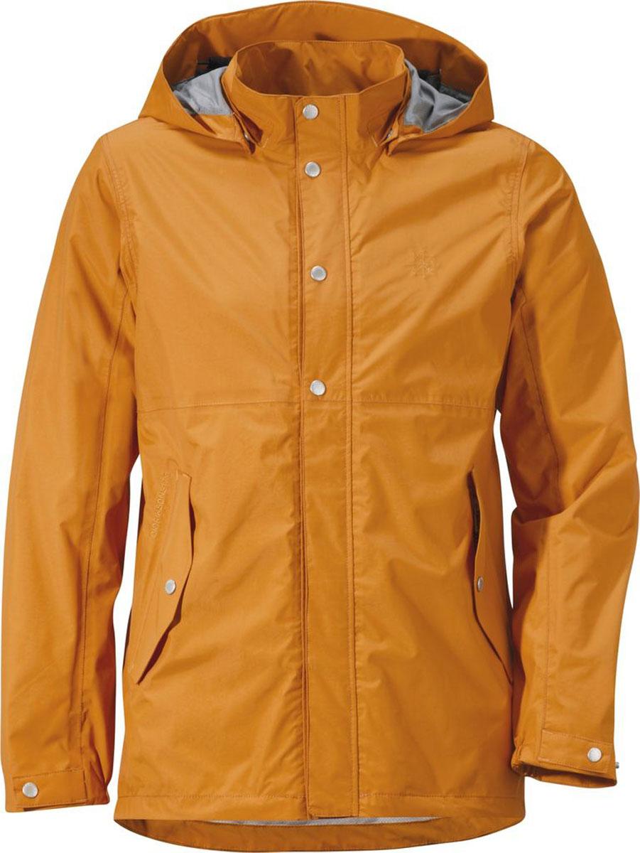 Куртка500866_144Модная мужская куртка Didriksons1913 Boreal изготовлена из ветронепроницаемой дышащей ткани - высококачественного полиамида. Технология Storm System обеспечивает 100% водонепроницаемость и защиту от любых погодных условий. Подкладка выполнена из полиэстера и полиамида. Модель оформлена съемным капюшоном застегивается на пластиковую молнию и дополнительно на двойной ветрозащитный клапан с кнопками. Капюшон регулируется с помощью эластичных шнурков со стопперами. Спереди изделие дополнено двумя боковыми карманами, закрывающимися на клапаны с кнопками, с внутренней стороны - одним накладным сетчатым карманом и одним прорезным на застежке молнии и с дополнительным отверстием для наушников. Манжеты рукавов дополнены эластичными резинками, а ширина рукавов регулируются с помощью хлястиков с кнопками. Нижняя часть изделия с внутренней стороны регулируется за счет эластичного шнурка со стопперами.