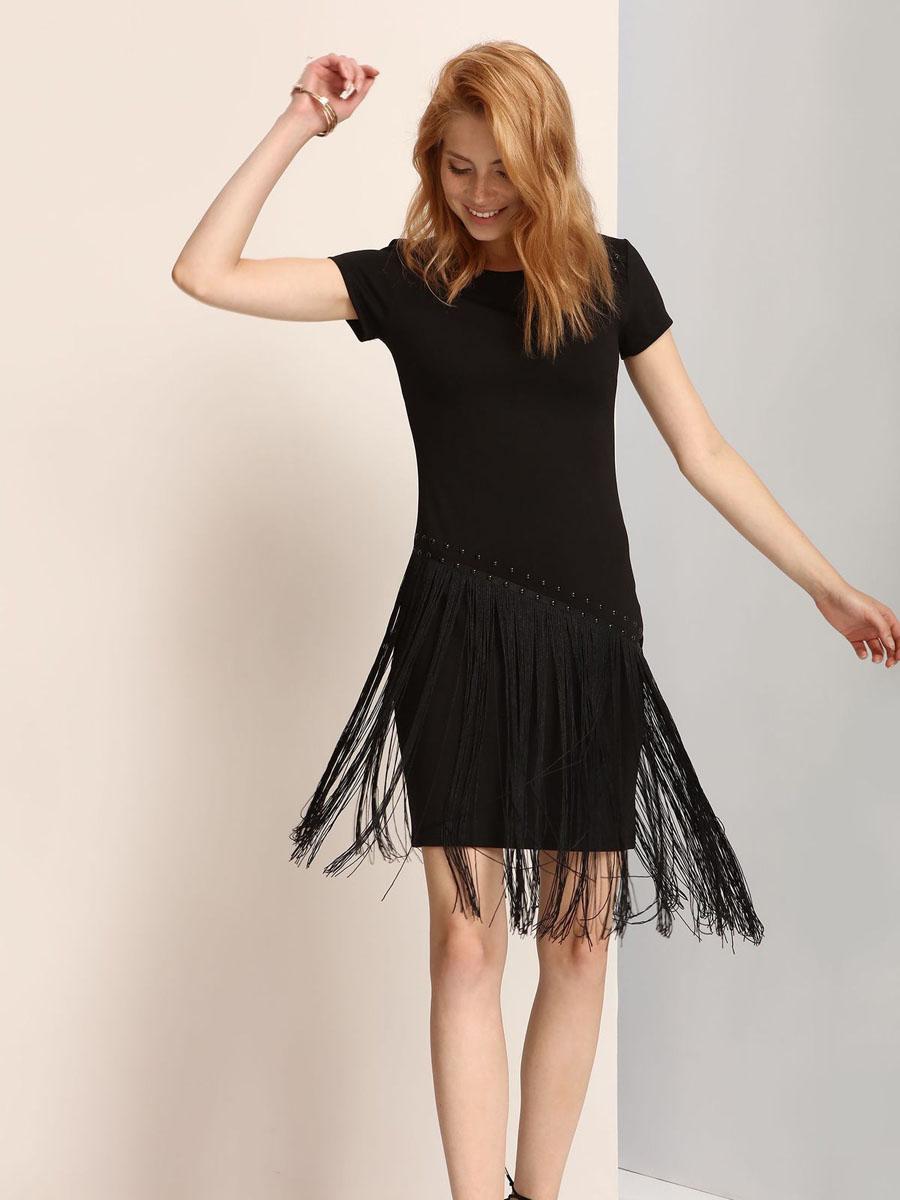 TSU0556CAЭлегантное платье Troll, изготовленное из сочетания высококачественных материалов, оно мягкое на ощупь, не раздражает кожу и хорошо вентилируется. Модель-миди с круглым вырезом горловины и стандартными короткими рукавами оформлена металлическими кнопками и элегантной бахромой.