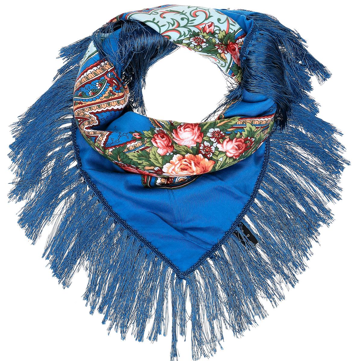ПлатокYY-21660-1Элегантный платок Sophie Ramage станет достойным завершением вашего образа. Платок изготовлен из модала с добавлением шерсти и полиэстера. Оформлена модель яркими цветочными узорами в стиле хохломы и дополнена стильной бахромой. Платок красиво драпируется, он превосходно дополнит любой наряд и подчеркнет ваш изысканный вкус. Легкий и изящный платок привнесет в ваш образ утонченность и шарм.