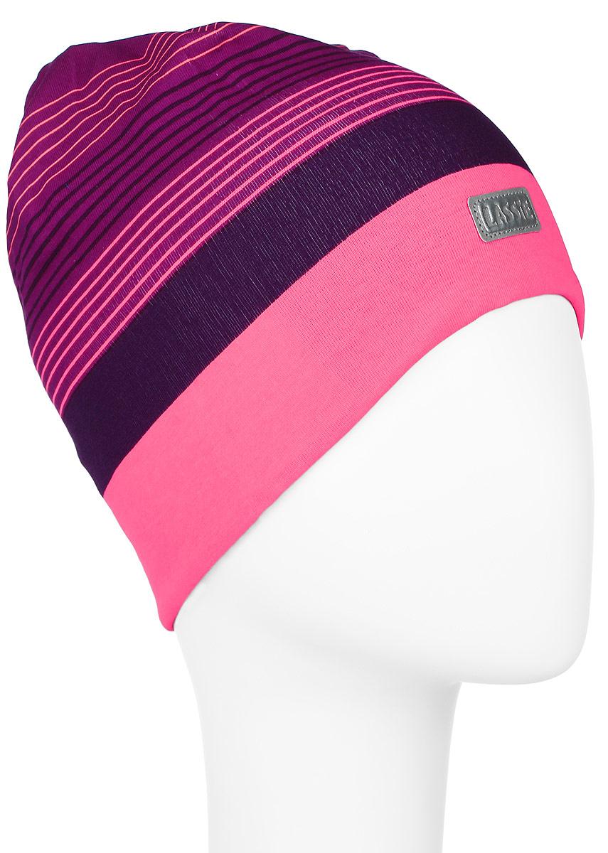 Шапка детская728690-3380Комфортная шапка для девочки Reima Lassie Beanie идеально подойдет для прогулок в холодное время года. Изделие, выполненное из хлопка и эластана, максимально сохраняет тепло, оно мягкое и идеально прилегает к голове. Мягкая подкладка выполнена из флиса, поэтому шапка хорошо сохраняет тепло и обладает отличной гигроскопичностью (не впитывает влагу, но проводит ее). Модель оформлена принтом в полоску и дополнена небольшой светоотражающей фирменной нашивкой. В такой шапке ваша дочурка будет чувствовать себя уютно и комфортно. Уважаемые клиенты! Размер, доступный для заказа, является обхватом головы.