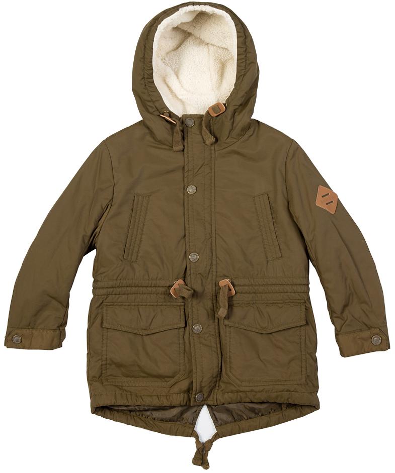 Куртка216BBBC46010900Стильная зимняя куртка для мальчика - залог хорошего настроения в морозный день! Красивый цвет, модный силуэт, крупные функциональные детали обеспечивают модели прекрасный внешний вид! Внутри утеплена искусственным мехом.