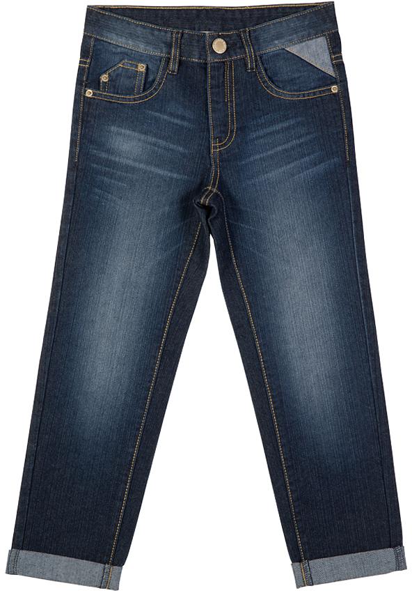 216BBBC6304D100Синие джинсы с потертостями и варкой гарантируют отличный внешний вид и хорошее настроение! Модный силуэт, удобная посадка на фигуре создают комфорт и свободу движений. Купить хорошие детские джинсы, чтобы быть в тренде и не сомневаться в их практичности и комфорте, значит купить джинсы от Button Blue! Отличное качество и доступная цена прилагаются!