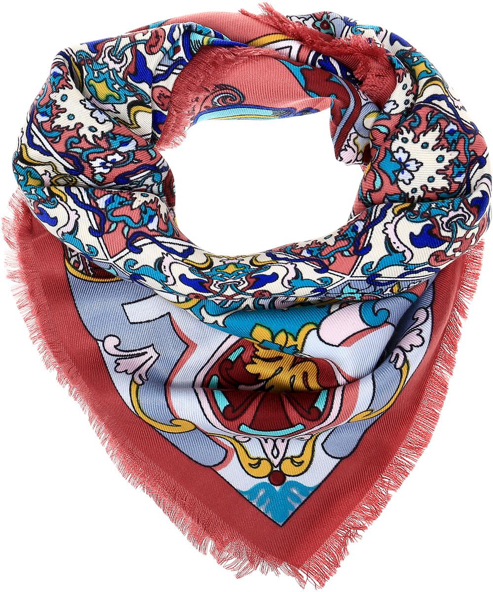 ПлатокYY-21641-3Элегантный платок Sophie Ramage станет достойным завершением вашего образа. Платок изготовлен из модала с добавлением шерсти и полиэстера. Оформлена модель яркими орнаментом и цветочным узором. Изделие красиво драпируется, он превосходно дополнит любой наряд и подчеркнет ваш изысканный вкус. Легкий и изящный платок привнесет в ваш образ утонченность и шарм.