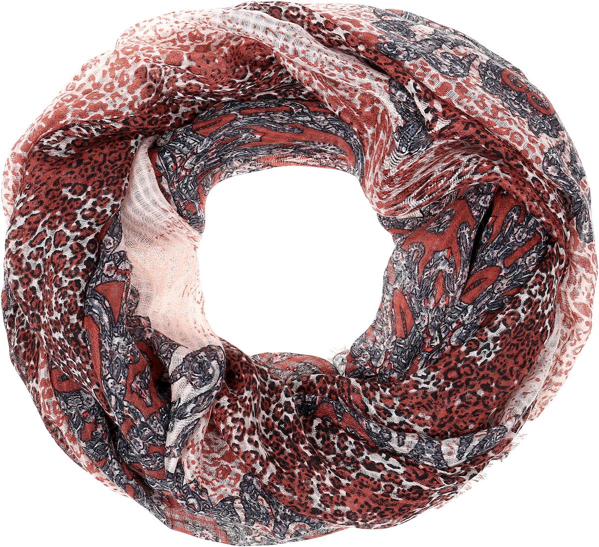 ПалантинYY-21652-10Элегантный палантин Sophie Ramage станет достойным завершением вашего образа. Палантин изготовлен из модала с добавлением шерсти. Оформлена модель контрастным принтом в виде узоров и по краям дополнена бахромой. Палантин красиво драпируется, он превосходно дополнит любой наряд и подчеркнет ваш изысканный вкус. Легкий и изящный палантин привнесет в ваш образ утонченность и шарм.