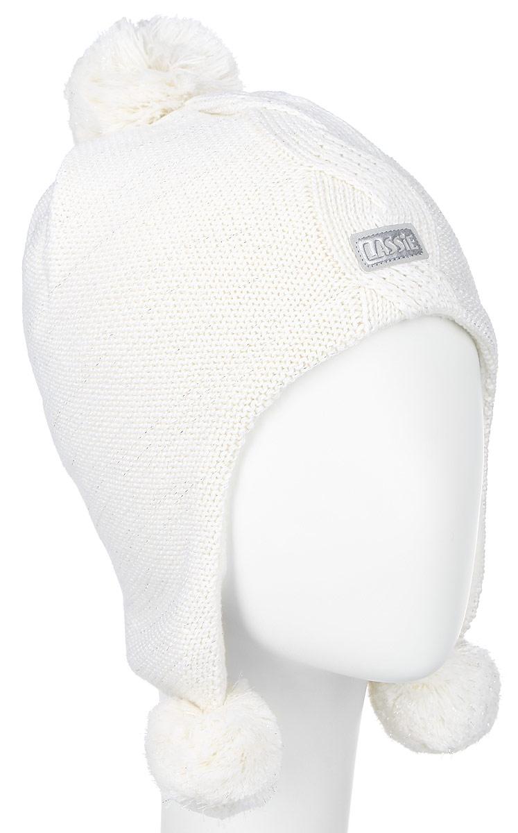 Шапка детская728696-0110Комфортная шапка для девочки Reima Lassie идеально подойдет для прогулок в холодное время года. Вязаная шапка с ветрозащитными вставками в области ушей, выполненная из шерсти и акрила, максимально сохраняет тепло, она мягкая и идеально прилегает к голове. Шерсть хорошо тянется и устойчива к сминанию. Мягкая подкладка выполнена из флиса, поэтому шапка хорошо сохраняет тепло и обладает отличной гигроскопичностью (не впитывает влагу, но проводит ее). Шапка оформлена помпонами и небольшой светоотражающей нашивкой с названием бренда. В такой шапке ваша дочурка будет чувствовать себя уютно и комфортно и всегда будет в центре внимания! Уважаемые клиенты! Размер, доступный для заказа, является обхватом головы ребенка.