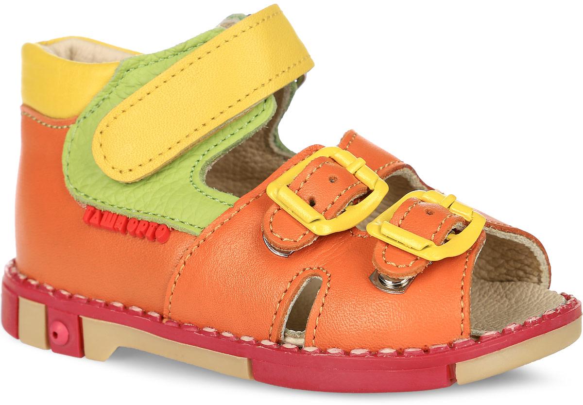 Tas201-11Модные сандалии Таши Орто заинтересуют вашу девочку с первого взгляда. Модель выполнена из натуральной кожи. Ремешок на застежке- липучке и ремешки на застежке-пряжке помогают оптимально подогнать полноту обуви по ноге и гарантируют надежную фиксацию. Анатомическая стелька из натуральной кожи с супинатором, не продавливающимся во время носки, обеспечивает правильное формирование стопы. Благодаря использованию современных внутренних материалов оптимально распределяется нагрузка по всей площади стопы, что дает ножке ощущение мягкости и комфорта. Полужесткий задник фиксирует ножку ребенка. Мягкая верхняя часть, которая плотно прилегает к ноге, и подкладка, изготовленная из натуральной кожи, позволяют избежать натирания. У изделия ортопедический каблук Томаса высотой от 2 до 5 мм (в зависимости от размера обуви), продленный с внутренней стороны подошвы, его внутренняя часть длиннее наружной, укрепляет подошву под средней частью стопы и препятствует заваливанию стопы внутрь (что...