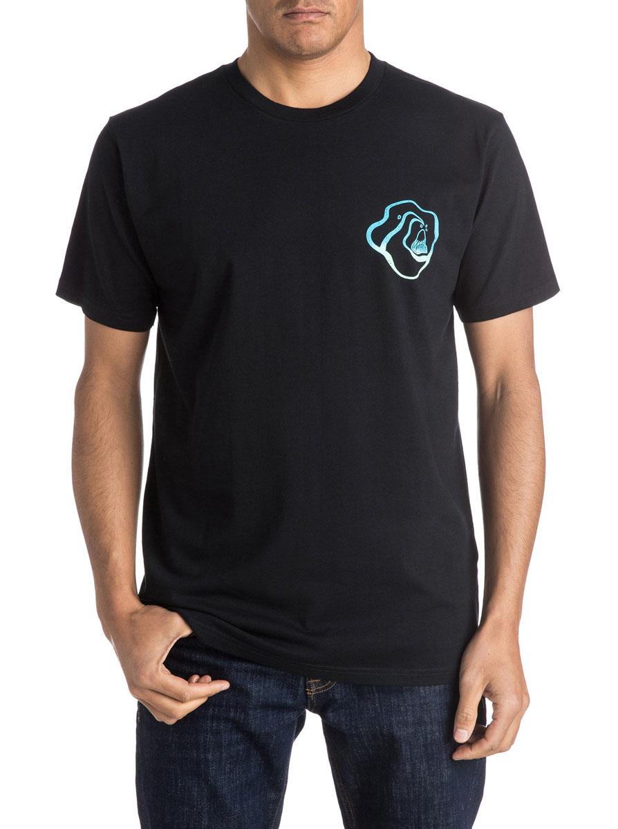ФутболкаEQYZT03965-KVJ0Мужская футболка Quiksilver Amssteestayhigh с короткими рукавами и круглым вырезом горловины выполнена из натурального хлопка. Футболка украшена небольшим контрастным принтом спереди.
