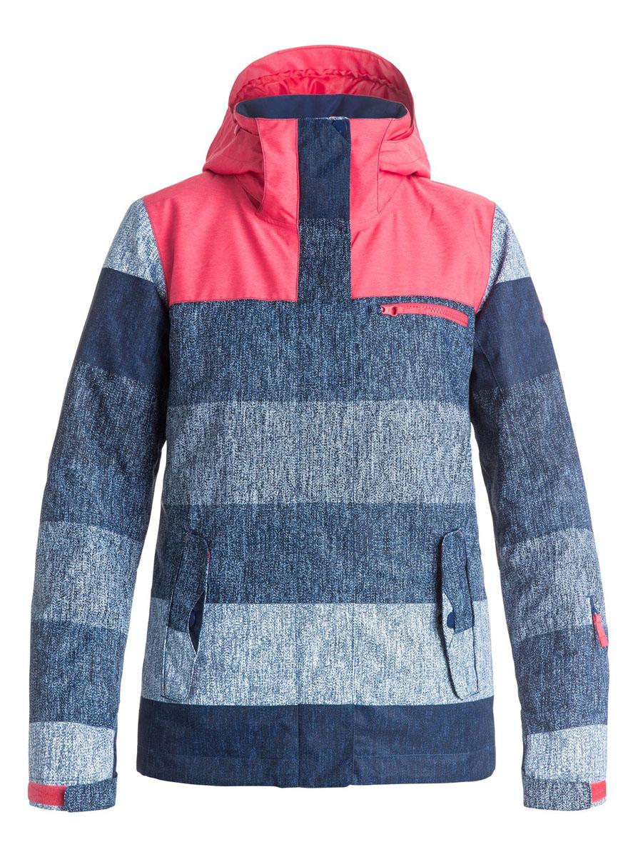 КурткаERJTJ03054-BSQ3Женская куртка для сноуборда выполнена из полиэстера с утеплителем Warmflight (тело 120 г, рукава 100 г, капюшон 60 г). Подкладка из тафты со вставками из трикотажа с начесом. Критические швы проклеены. Съемный капюшон регулируется тремя способами. Фиксированная противоснежная юбка из тафты с удобными кнопками. Система пристегивания куртки к штанам. Подкладка в районе подбородка. Куртка дополнена нагрудным карманом, внутренним медиакарманом, внутренним карманом для маски, брелоком для ключей. Лайкровые гейтеры в рукавах. Кармашек для скипасса на рукаве. Сеточная вентиляция подмышками. Карманы с теплой подкладкой.