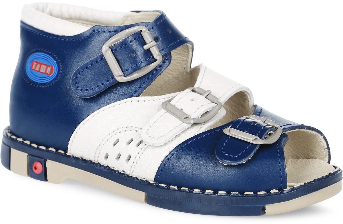 Tas331-72Модные сандалии Таши Орто заинтересует вашего мальчика с первого взгляда. Модель выполнена из натуральной кожи. Ремешки на застежках-пряжках помогают оптимально подогнать полноту обуви по ноге и гарантируют надежную фиксацию. Боковая сторона изделия декорирована логотипом бренда. Анатомическая стелька из натуральной кожи с супинатором, не продавливающимся во время носки, обеспечивает правильное формирование стопы. Благодаря использованию современных внутренних материалов оптимально распределяется нагрузка по всей площади стопы, что дает ножке ощущение мягкости и комфорта. Полужесткий задник фиксирует ножку ребенка. Мягкая верхняя часть, которая плотно прилегает к ноге, и подкладка, изготовленная из натуральной кожи, позволяют избежать натирания. У изделия ортопедический каблук Томаса высотой от 2 до 5 мм (в зависимости от размера обуви), продленный с внутренней стороны подошвы, его внутренняя часть длиннее наружной, укрепляет подошву под средней частью стопы и...