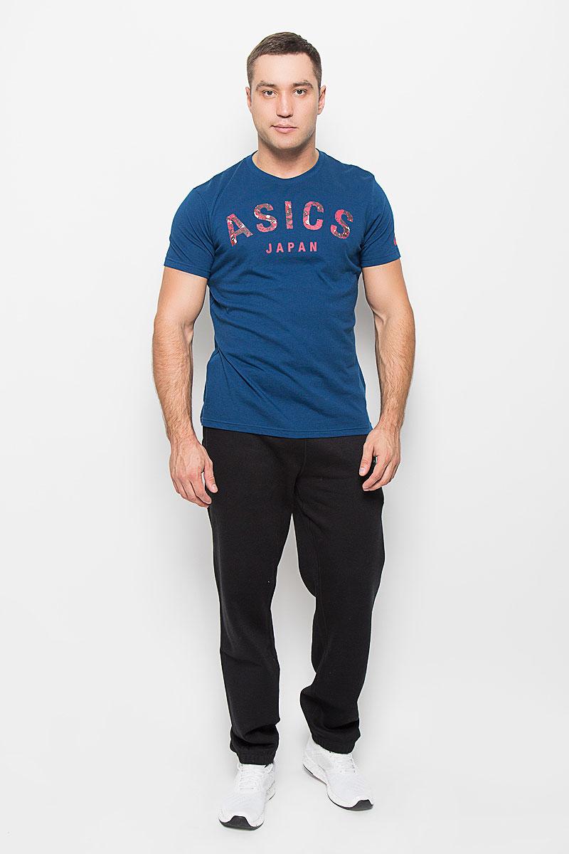 Футболка131529-0001Стильная мужская футболка Asics Camou Logo SS Top, выполненная из высококачественного хлопка с добавлением полиэстера, обладает высокой теплопроводностью, воздухопроницаемостью и гигроскопичностью, позволяет коже дышать и великолепно отводит влагу, оставляя тело сухим. Такая футболка превосходно подойдет для занятий спортом и активного отдыха. Модель с короткими рукавами и круглым вырезом горловины - идеальный вариант для создания образа в спортивном стиле. Футболка декорирована броским камуфляжным принтом с надписью Asics Japan. Такая модель подарит вам комфорт в течение всего дня и послужит замечательным дополнением к вашему гардеробу.