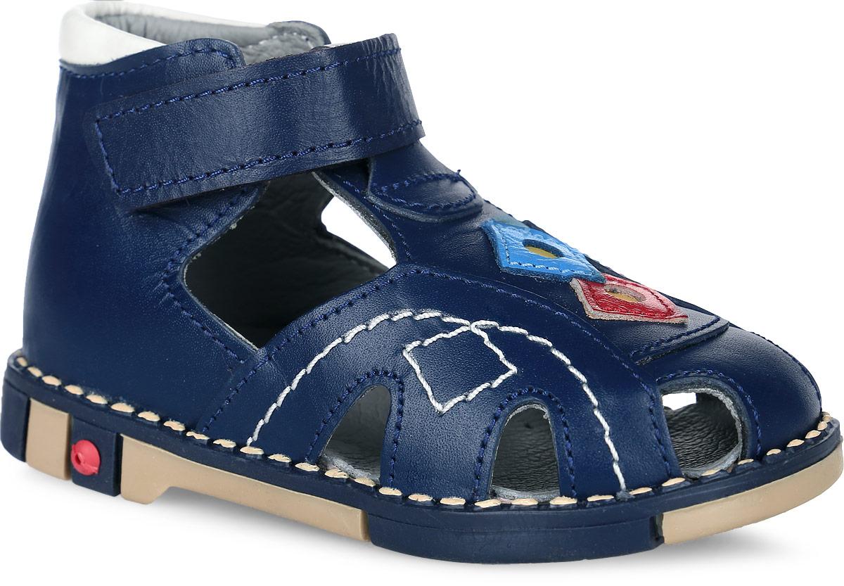 Tas244-01Стильные детские сандалии Таши Орто заинтересуют вашего ребенка с первого взгляда. Модель выполнена из натуральной кожи контрастных цветов. Ремешок на застежке-липучке помогает оптимально подогнать полноту обуви по ноге и гарантирует надежную фиксацию. Благодаря такой застежке ребенок может самостоятельно надевать обувь. Сбоку сандалии декорированы символикой бренда. Анатомическая стелька из натуральной кожи с супинатором, не продавливающимся во время носки, обеспечивает правильное формирование стопы. Благодаря использованию современных внутренних материалов оптимально распределяется нагрузка по всей площади стопы, что дает ножке ощущение мягкости и комфорта. Полужесткий задник фиксирует ножку ребенка. Мягкая верхняя часть, которая плотно прилегает к ноге, и подкладка, изготовленная из натуральной кожи, позволяют избежать натирания. У изделия ортопедический каблук Томаса высотой от 2 до 5 мм (в зависимости от размера обуви), продленный с внутренней стороны подошвы, его...