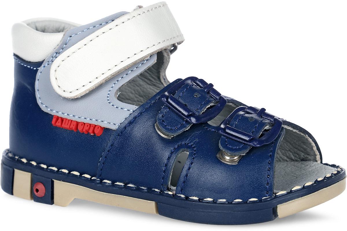 Tas201-43Модные сандалии Таши Орто заинтересуют вашего мальчика с первого взгляда. Модель выполнена из натуральной кожи. Ремешок на застежке- липучке и ремешки на застежках-пряжках помогают оптимально подогнать полноту обуви по ноге и гарантируют надежную фиксацию. Анатомическая стелька из натуральной кожи с супинатором, не продавливающимся во время носки, обеспечивает правильное формирование стопы. Благодаря использованию современных внутренних материалов оптимально распределяется нагрузка по всей площади стопы, что дает ножке ощущение мягкости и комфорта. Полужесткий задник фиксирует ножку ребенка. Мягкая верхняя часть, которая плотно прилегает к ноге, и подкладка, изготовленная из натуральной кожи, позволяют избежать натирания. У изделия ортопедический каблук Томаса высотой от 2 до 5 мм (в зависимости от размера обуви), продленный с внутренней стороны подошвы, его внутренняя часть длиннее наружной, укрепляет подошву под средней частью стопы и препятствует заваливанию...