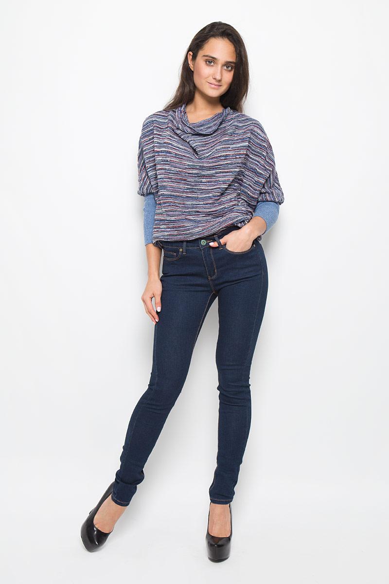 ДжинсыPJ-135/579-6352Стильные женские джинсы Sela Denim подчеркнут ваш уникальный стиль и помогут создать оригинальный женственный образ. Модель выполнена из высококачественного эластичного хлопка с добавлением полиэстера. Материал мягкий и приятный на ощупь, не сковывает движения и позволяет коже дышать. Джинсы зауженного кроя со стандартной посадкой застегиваются на пуговицу в поясе и ширинку на застежке-молнии. На поясе предусмотрены шлевки для ремня. Спереди модель оформлена двумя втачными карманами и одним маленьким накладным кармашком, а сзади - двумя накладными карманами. Модель оформлена контрастной прострочкой. Эти модные и в тоже время комфортные джинсы послужат отличным дополнением к вашему гардеробу.