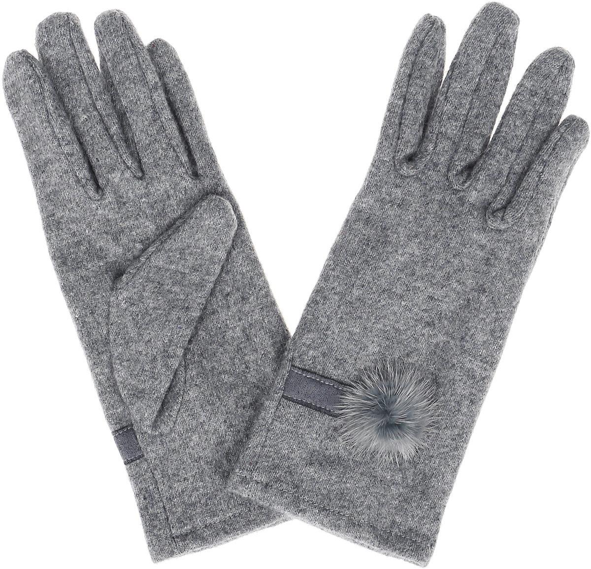 GL-143/063-6302Элегантные женские перчатки Sela, выполненные из акрила с добавлением шерсти, не только согреют пальчики, но и дополнят ваш наряд в качестве эффектного аксессуара. Эластичный трикотаж не будет стеснять движений. Внешняя сторона перчатки декорирована трикотажной полоской и мехом. Перчатки станут завершающим и подчеркивающим элементом вашего стиля и неповторимости.
