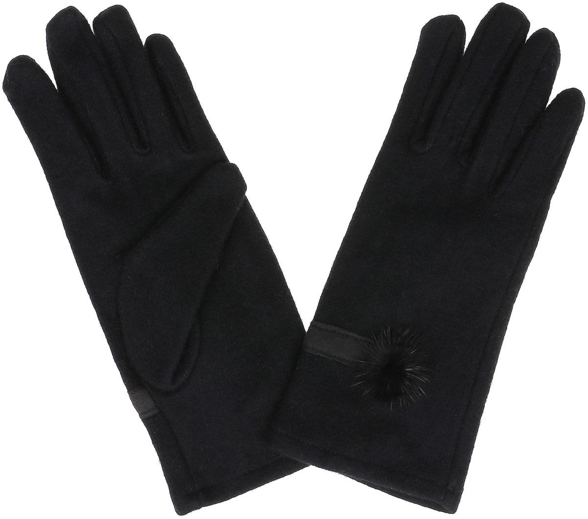ПерчаткиGL-143/063-6302Элегантные женские перчатки Sela, выполненные из акрила с добавлением шерсти, не только согреют пальчики, но и дополнят ваш наряд в качестве эффектного аксессуара. Эластичный трикотаж не будет стеснять движений. Внешняя сторона перчатки декорирована трикотажной полоской и мехом. Перчатки станут завершающим и подчеркивающим элементом вашего стиля и неповторимости.