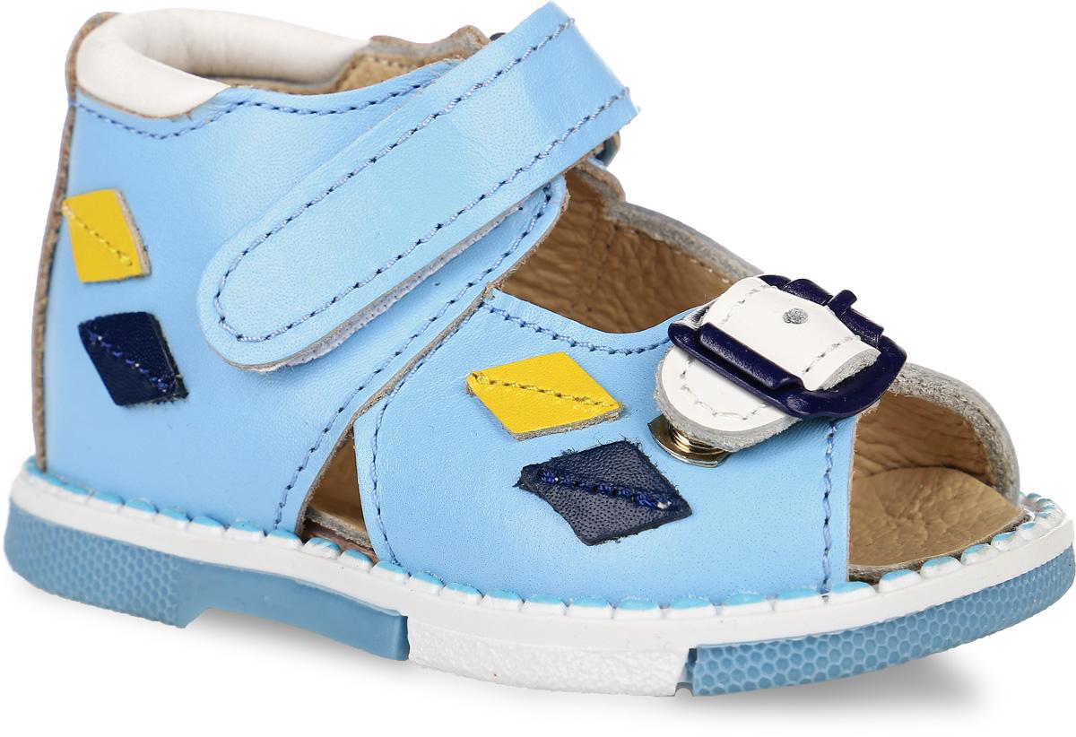 Tas129-233Модные сандалии Таши Орто заинтересуют вашего мальчика с первого взгляда. Модель выполнена из натуральной кожи. Застежка-липучка и застежка-пряжка надежно фиксируют голеностоп и одновременно регулируют полноту, не ослабевают в процессе ежедневной носки, важный элемент ортопедической обуви. Боковая сторона декорирована кожаными нашивками в виде ромбиков. Анатомическая стелька из натуральной кожи с супинатором, не продавливающимся во время носки, обеспечивает правильное формирование стопы. Благодаря использованию современных внутренних материалов оптимально распределяется нагрузка по всей площади стопы, что дает ножке ощущение мягкости и комфорта. Полужесткий задник фиксирует ножку ребенка. Мягкая верхняя часть, которая плотно прилегает к ноге, и подкладка, изготовленная из натуральной кожи, позволяют избежать натирания. У изделия ортопедический каблук, продленный с внутренней стороны подошвы, его внутренняя часть длиннее наружной, укрепляет подошву под средней частью...