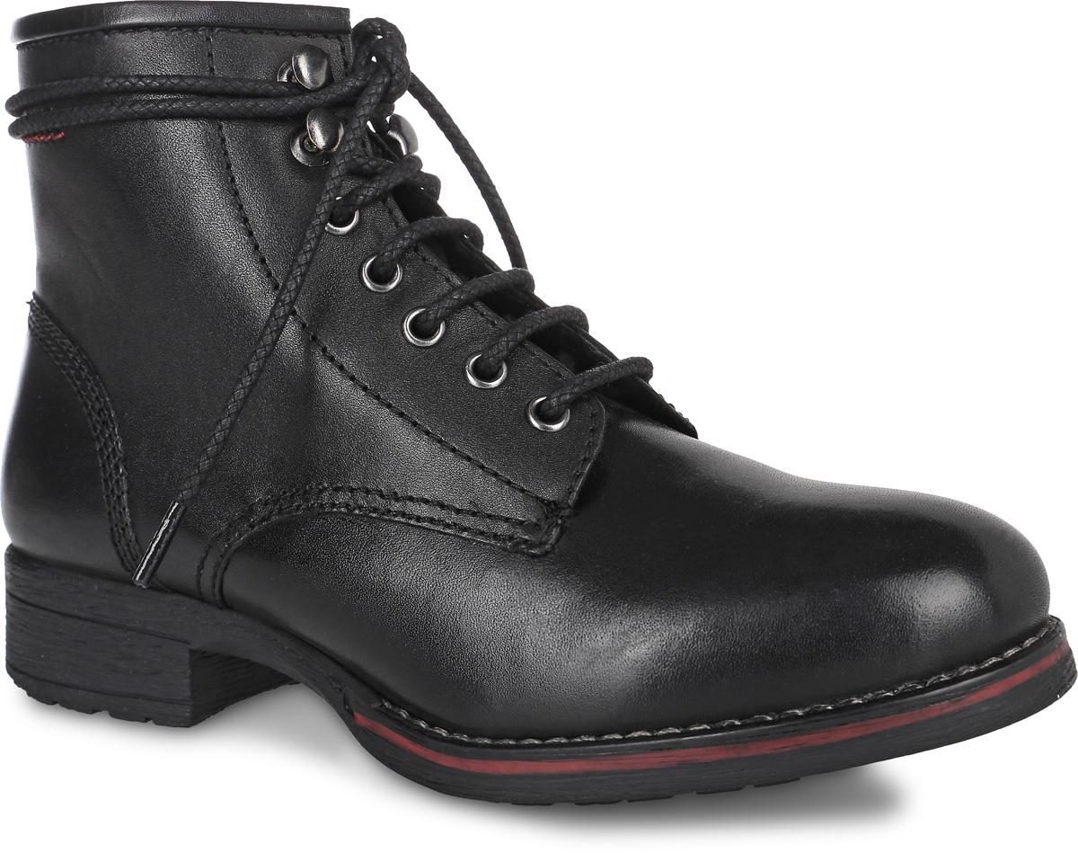 5-25206-27-001Стильные ботинки S.Oliver, выполненные из натуральной кожи, придутся вам по душе. Боковая сторона оформлена тиснением в виде логотипа бренда. Внутренняя поверхность и стелька из мягкого текстиля сохранят тепло, обеспечат комфорт и уют вашим ногам. Модель на шнуровке, что способствует надежной фиксации обуви на ноге. Подошва с рифлением из прочного материала гарантирует длительную носку и сцепление с любой поверхностью. Классические ботинки отлично подойдут к абсолютно любому образу.