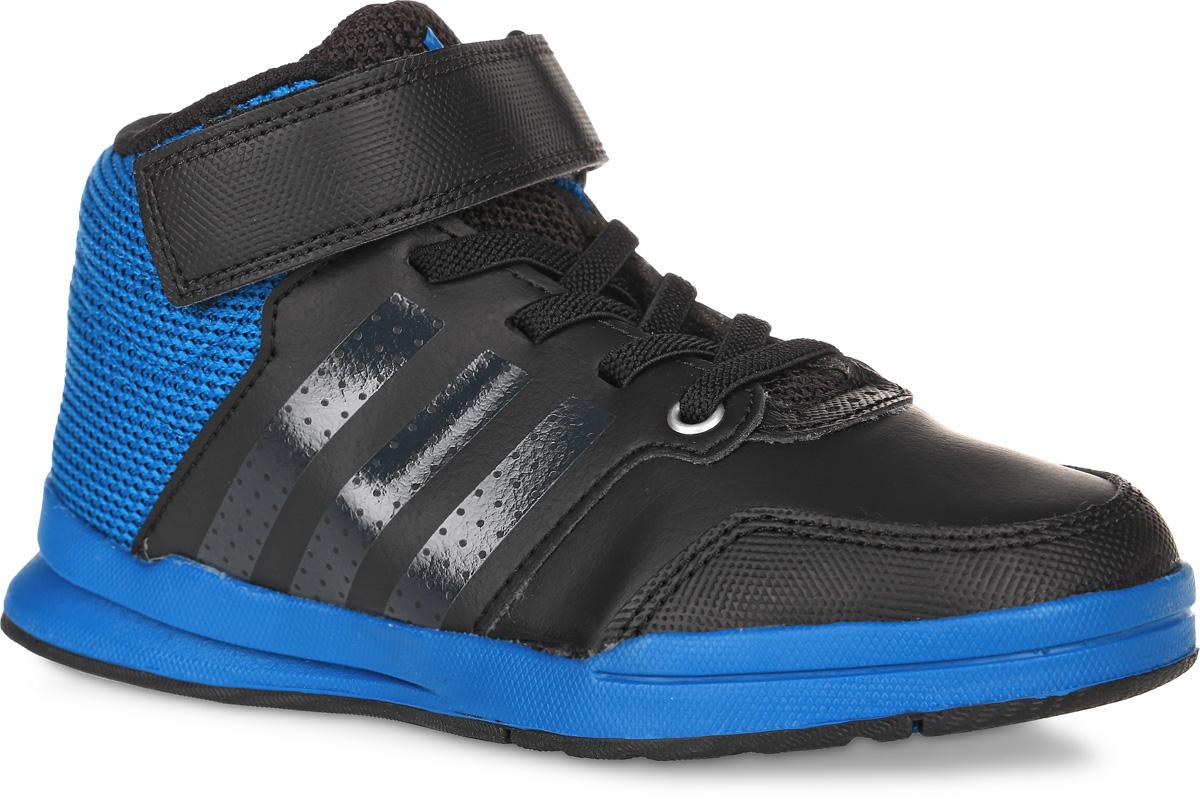 AQ3674Кроссовки для любых видов спорта Jan Bs 2 Mid C от adidas приведут в восторг вашего ребенка. Эта модель выполнена искусственной кожи со вставками из дышащего сетчатого текстиля. Язычок и задник оформлены символикой бренда, боковые стороны - перфорацией. Классическая шнуровка дополнена застежкой-липучкой, что обеспечивают надежную фиксацию на ноге. У изделия текстильная подкладка и стелька, выполненная по технологии Ortholite. Подошва с рифлением из прочных материалов гарантирует сцепление с любой поверхностью. Ультрамодные кроссовки займут достойное место в коллекции вашего ребенка!