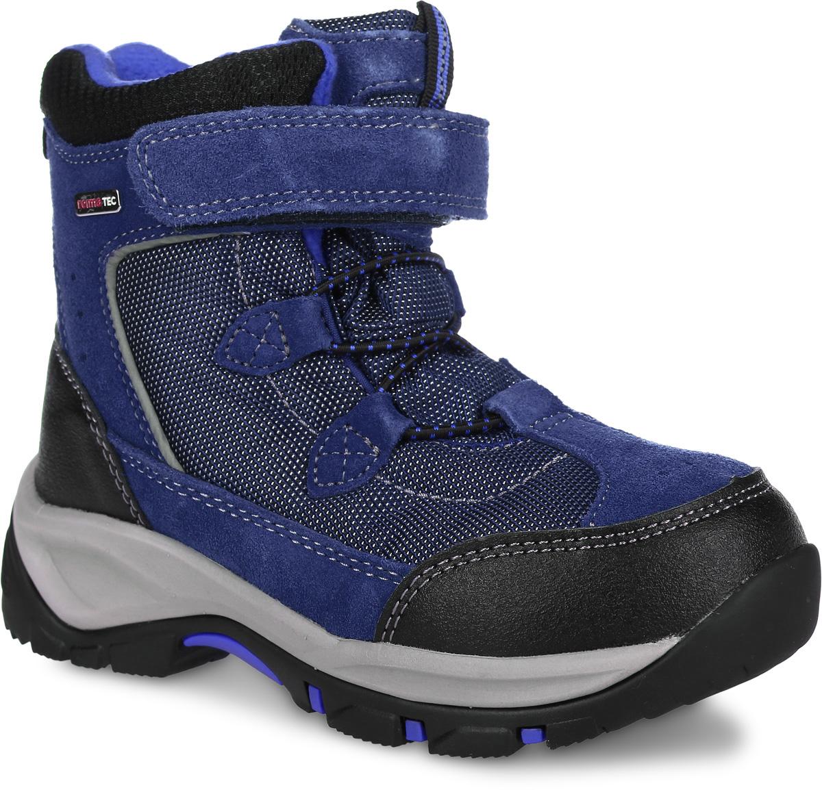 569290-4900Эти невероятно прочные ботинки Reimatec очень легко надевать и регулировать благодаря эластичным шнуркам и застежке на липучке. Модель средней степени утепления содержит светоотражающие детали. В них дети могут бегать и прыгать по слякоти и снегу и гарантированно останутся сухими - за счет водонепроницаемой конструкции и подкладки с запаянными швами. Верх этих суперботинок изготовлен из текстиля, кожи и телячьей замши. Ботинки подшиты подкладкой из теплого и мягкого искусственного меха, который надежно защищает от холода. Гибкая и легкая подошва Reima из ЭВА/резины обеспечивает прочное сцепление с различными поверхностями, а благодаря теплым съемным стелькам из войлока с рисунком Happy Fit легко подобрать правильный размер или измерить растущую ножку ребенка.
