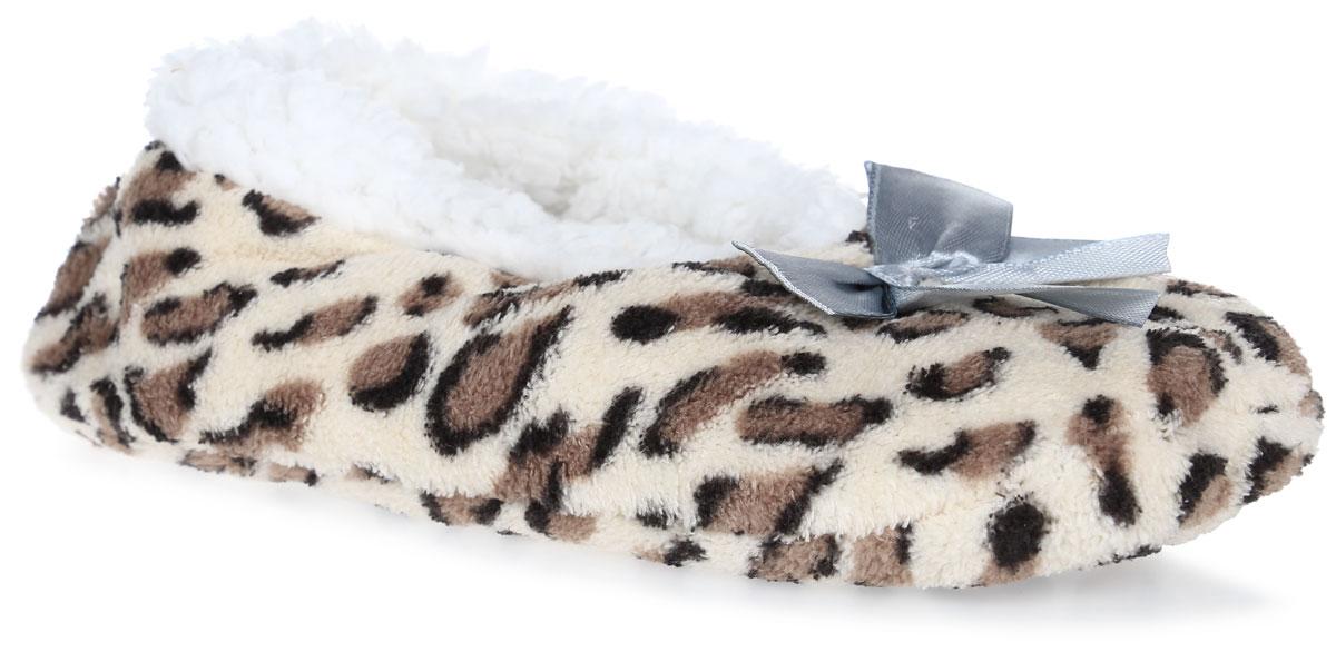 H33Женские тапки Burlesco не дадут вашим ногам замерзнуть. Верх модели и внутренняя поверхность выполнены из мягкого текстиля с небольшим ворсом. Верх изделия декорирован небольшим бантиком. Тапки обеспечат прогрев ног сухим теплом, защитят от воздействия холода и сквозняков, и снимут усталость ног. Подошва дополнена силиконовыми вставками против скольжения. Легкие и мягкие тапки подарят чувство уюта и комфорта.