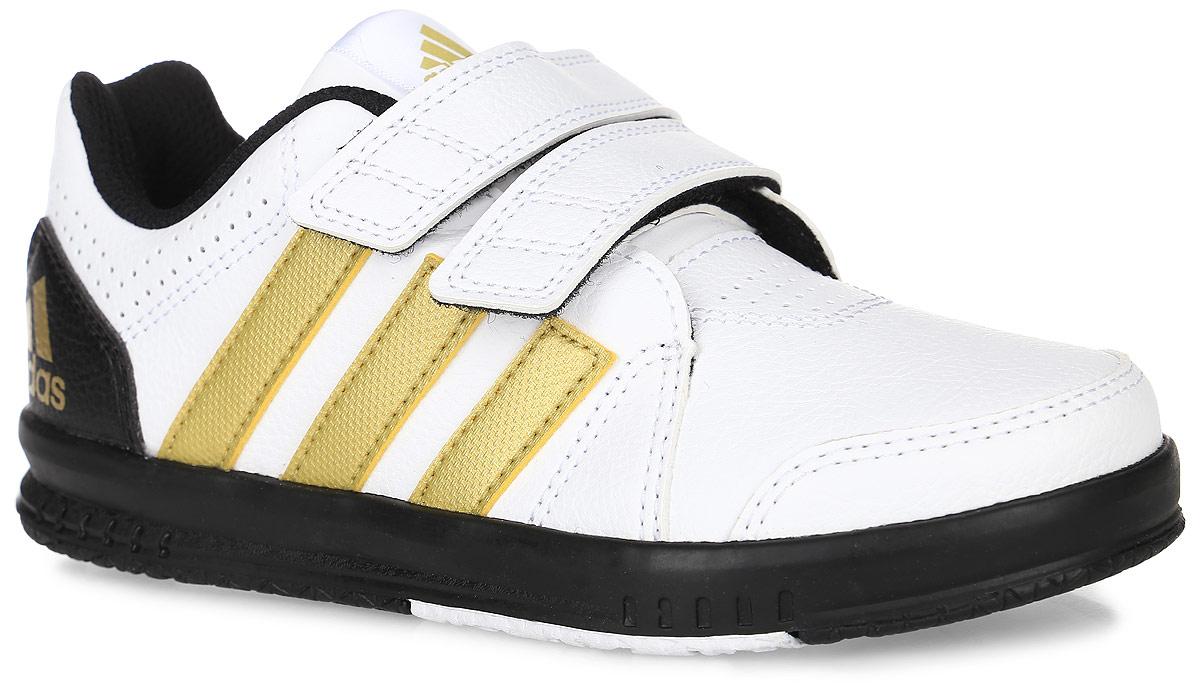 AQ2859Кроссовки для тренинга Fb Lk Trainer 7 Cf от Adidas Performance приведут в восторг вашего ребенка. Эта модель выполнена из искусственной кожи. Язычок и задник оформлены символикой бренда, мыс и боковые стороны - перфорацией. Застежки-липучки обеспечивают надежную фиксацию на ноге. У изделия дышащая сетчатая подкладка и стелька, выполненная по технологии Ortholite. Подошва с рифлением из прочных материалов гарантирует сцепление с любой поверхностью.
