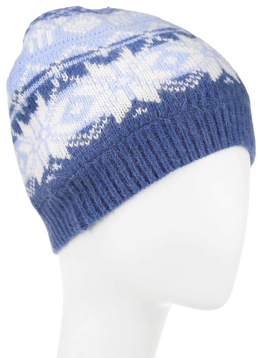 ШапкаHAk-141/013K-6404Женская вязаная шапка Sela идеально подойдет для прогулок в прохладное время года. Изготовленная из нейлона с добавлением шерсти и ангоры, она обладает хорошими дышащими свойствами и хорошо удерживает тепло. Шапка украшена интересным принтом. Понизу проходит широкая вязаная резинка. Такая шапка станет модным и стильным предметом вашего гардероба. Она улучшит настроение даже в хмурые прохладные дни! Уважаемые клиенты! Размер, доступный для заказа, является обхватом головы.