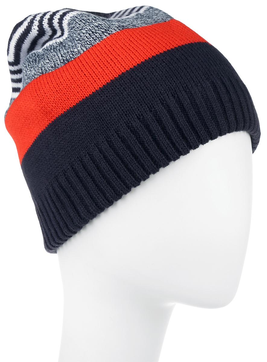 Шапка детская363144Стильная вязаная шапка для мальчика Scool идеально подойдет для прогулок в прохладное время года. Изготовленная из 100% акрила, она обладает хорошими дышащими свойствами и хорошо удерживает тепло. Понизу шапки проходит широкая вязаная резинка. Украшено изделие вязаным рисунком в полоску. Такая шапка станет модным и стильным предметом детского гардероба. Она улучшит настроение даже в хмурые прохладные дни! Уважаемые клиенты! Размер, доступный для заказа, является обхватом головы ребенка.