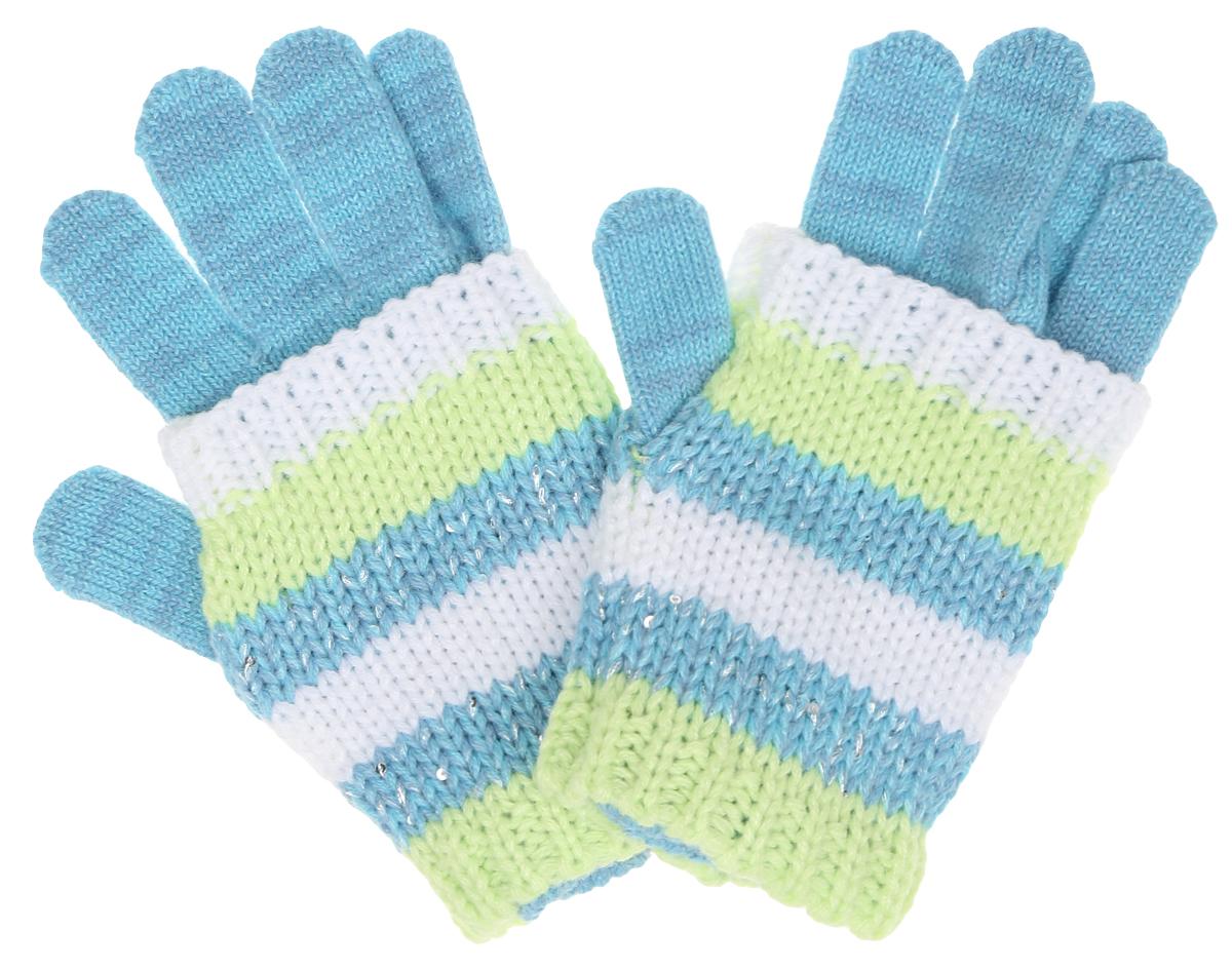 Перчатки детские364180Вязаные перчатки для девочки Scool идеально подойдут вашему ребенку для прогулок в прохладное время года. Изготовленные из 100% акрила, они мягкие и приятные на ощупь, хорошо сохраняют тепло. Благодаря широким эластичным манжетам, не стягивающим запястья, перчатки надежно фиксируются на руках ребенка. Поверх надеваются полосатые митенки, украшенные мелкими серебристыми пайетками. Современный дизайн и расцветка делают эти перчатки модным предметом детского гардероба. В них ваша дочурка будет чувствовать себя тепло, уютно и комфортно.
