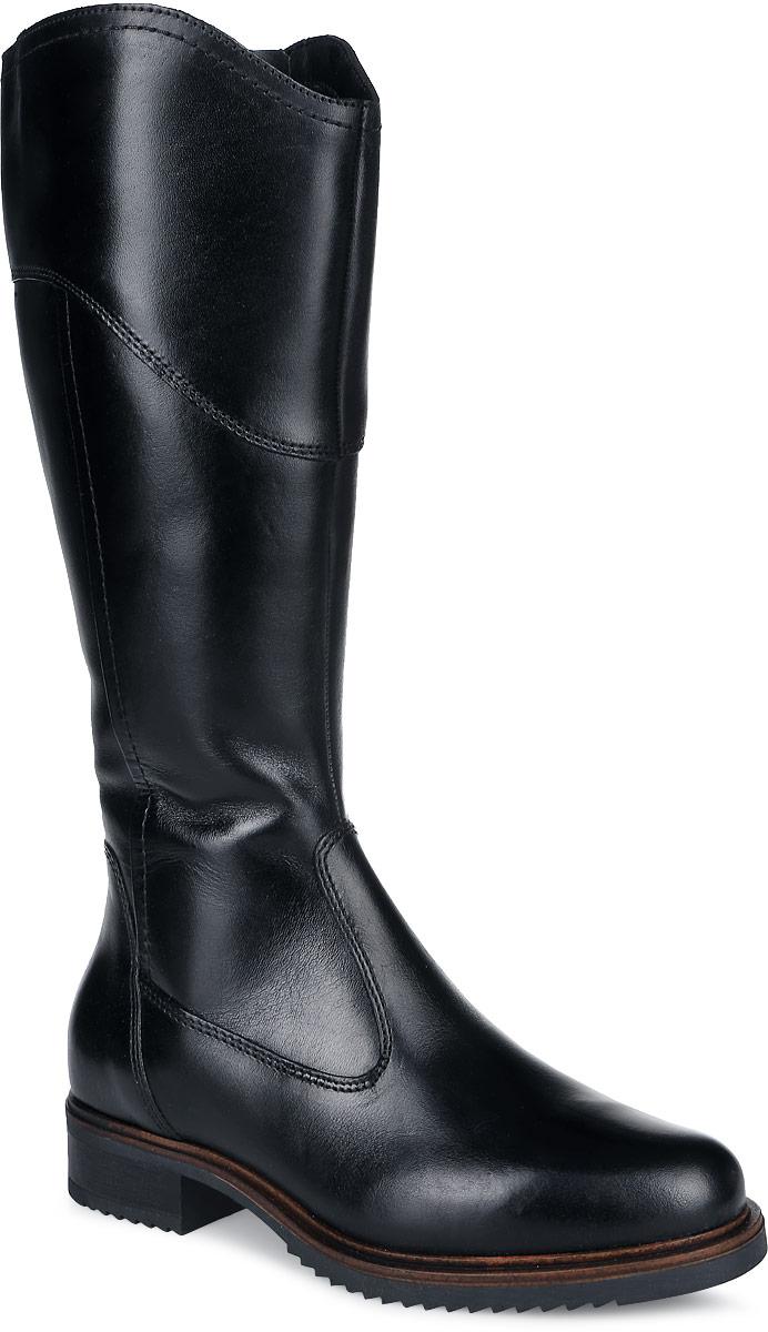 1-1-25665-27-001Женские сапоги Tamaris выполнены из натуральной кожи. Изделие украшено декоративным хлястиком с металлическими кольцами на голенище сверху. Подкладка и стелька из мягкого текстильного материала защитят ноги от холода и обеспечат комфорт. Сапоги застегиваются на застежку-молнию сбоку. Резиновая подошва с рельефным протектором обеспечивает отличное сцепление на любой поверхности.