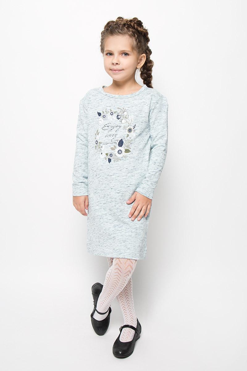 DK-617/429-6323Стильное платье Sela идеально подойдет вашей дочурке. Платье выполнено из натурального хлопка, оно необычайно мягкое и приятное на ощупь, не сковывает движения и позволяет коже дышать, не раздражает даже самую нежную и чувствительную кожу ребенка, обеспечивая наибольший комфорт. Платье-миди с длинными рукавами и круглым вырезом горловины застегивается на металлические кнопки, расположенные на спинке. По бокам модель дополнена двумя врезными карманами. Платье оформлено оригинальным принтом и стразами. Оригинальный современный дизайн и расцветка делают это платье модным и стильным предметом детского гардероба. В нем ваша девочка будет чувствовать себя уютно и комфортно и всегда будет в центре внимания!