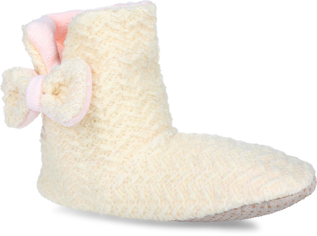 H44Женские тапки-угги Burlesco не дадут вашим ногам замерзнуть. Верх и внутренняя поверхность модели выполнены из мягкого текстиля. С боку модель декорирована разрезом и небольшим бантиком. Тапки обеспечат прогрев ног сухим теплом, защитят от воздействия холода и сквозняков, и снимут усталость ног. Подошва дополнена силиконовыми вставками против скольжения. Легкие и мягкие тапки подарят чувство уюта и комфорта.