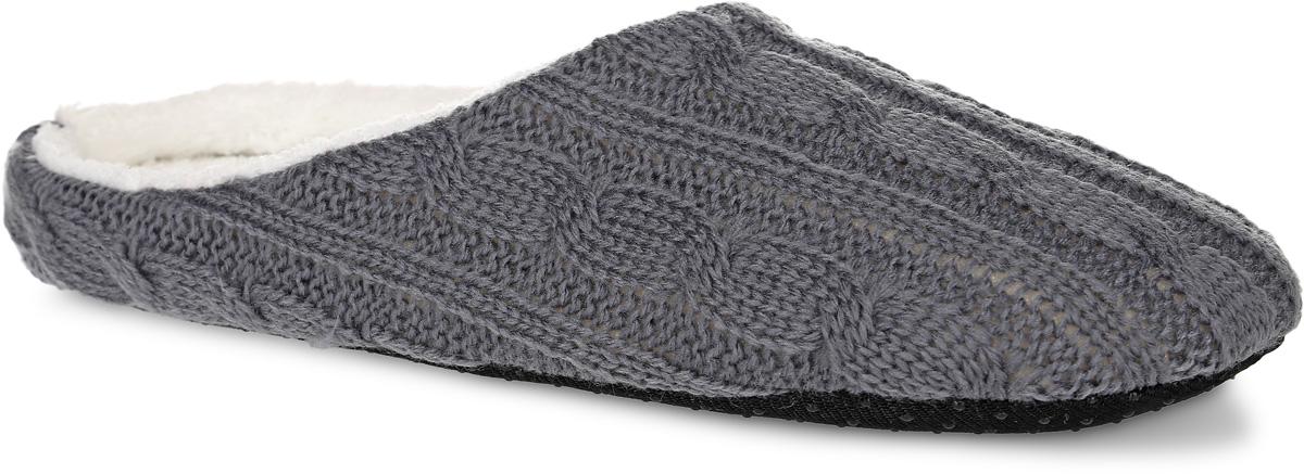 H27Женские вязанные тапки Burlesco не дадут вашим ногам замерзнуть. Модель выполнена из мягкого текстильного материала и оформлена оригинальным узором. Внутренняя поверхность и стелька выполнены из текстильного материала с ворсовым покрытием. Подошва дополнена силиконовыми вставками против скольжения. Тапки обеспечат прогрев ног сухим теплом, защитят от воздействия холода и сквозняков, и снимут усталость ног. Легкие и мягкие тапки подарят чувство уюта и комфорта.