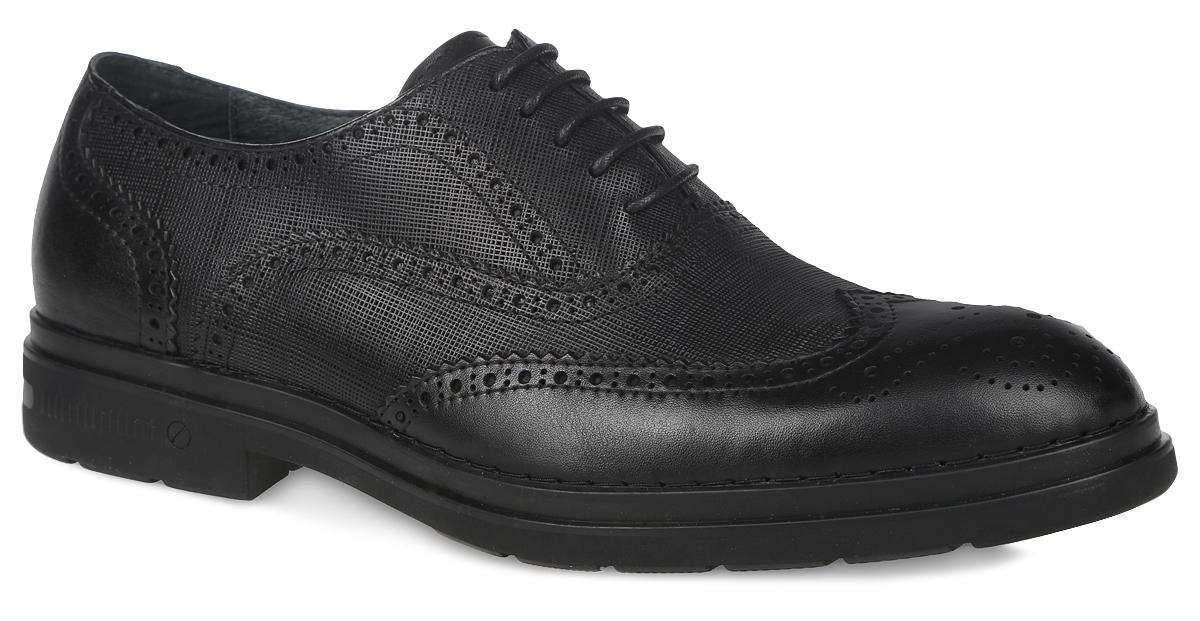 CRB15_601-3-M194_BLACKМужские броги El Tempo выполнены из натуральной кожи и оформлены декоративной перфорацией. Обувь фиксируется на ноге при помощи классической шнуровки. Подкладка и стелька изготовлены из натуральной кожи. Подошва из резины дополнена рифлением.