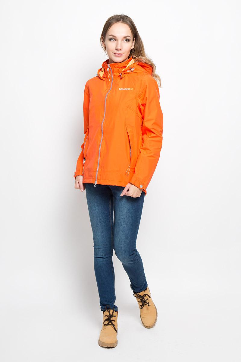 Куртка500477_228Удобная женская куртка Didriksons1913 Agda согреет вас в прохладную погоду и позволит выделиться из толпы. Модель с длинными рукавами и воротником-стойкой выполнена из водонепроницаемой и непродуваемой мембранной ткани. Проклеенные швы и дополнительная пропитка от внешней влаги обеспечивают максимальную защиту. Куртка застегивается на застежку-молнию спереди, дополнена съёмным капюшоном на застежке-молнии, объем которого регулируется при помощи шнурка-кулиски. Изделие дополнено двумя втачными карманами на молниях спереди и внутренним втачным карманом на застежке-молнии с отверстием для наушников, а также внутренним накладным карманом-сеткой. Рукава куртки оснащены хлястиками на кнопках. Низ и линия талии куртки дополнены шнурками-кулисками со стопперами. Эта модная и в то же время комфортная куртка - отличный вариант для прогулок, она подчеркнет ваш изысканный вкус и поможет создать неповторимый образ.