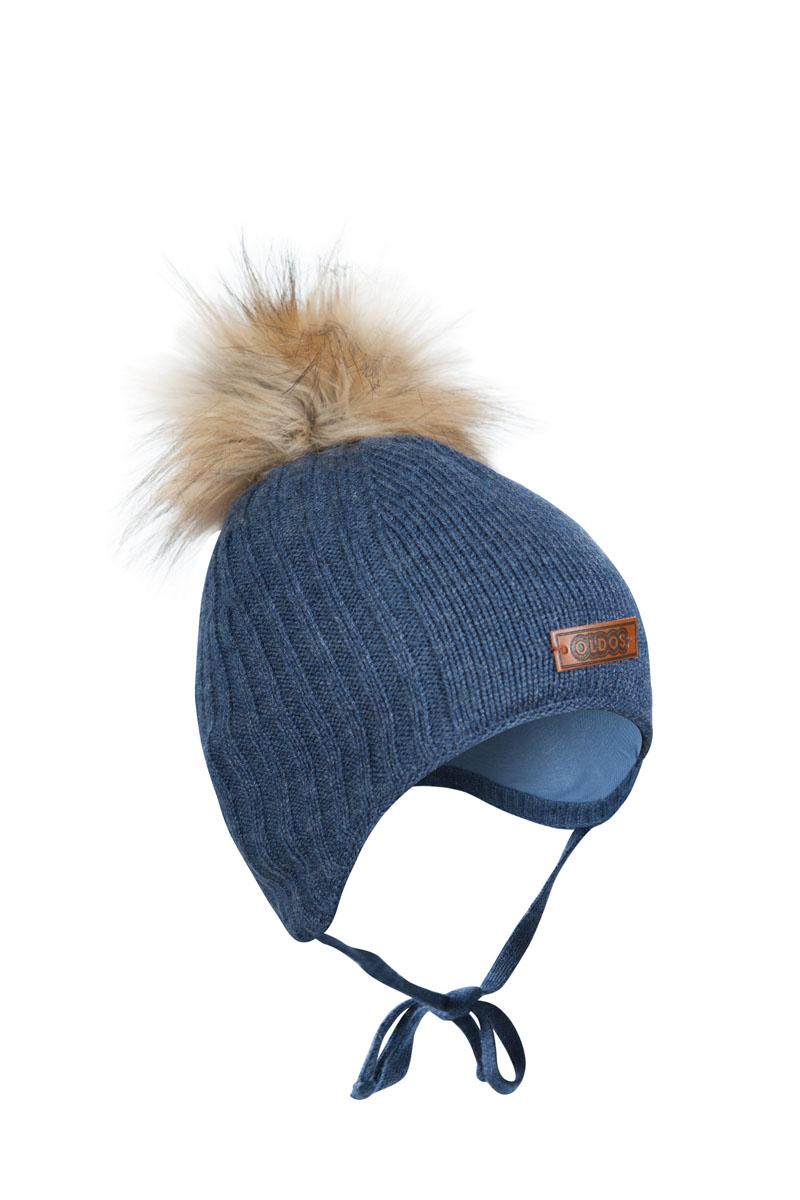 Шапка детская1Ш1615Шапка для мальчика бэби с завязками. Такая шапка хорошо закрывает ушки, завязки фиксируют шапку так, чтобы ничего не мешало игре или прогулке. Шапка мягкая и теплая благодаря утеплителю холлофайбер плотностью 70 г. и составу пряжи 70% шерсть, 30% акрил. Подкладка вискоза отводит излишнюю влагу и сохраняет ощущение комфорта во время прогулок. Шапка с декором в виде помпона и нашивки под кожу с логотипом OLDOS.