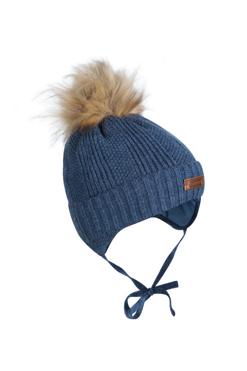 Шапка детская1Ш1617Шапка для мальчика бэби с завязками. Такая шапка хорошо закрывает ушки, завязки фиксируют шапку так, чтобы ничего не мешало игре или прогулке. Шапка мягкая и теплая благодаря утеплителю холлофайбер плотностью 70 г. и составу пряжи 70% шерсть, 30% акрил. Подкладка вискоза отводит излишнюю влагу и сохраняет ощущение комфорта во время прогулок. Шапка с декоративным отворотом и искусственным помпоном.