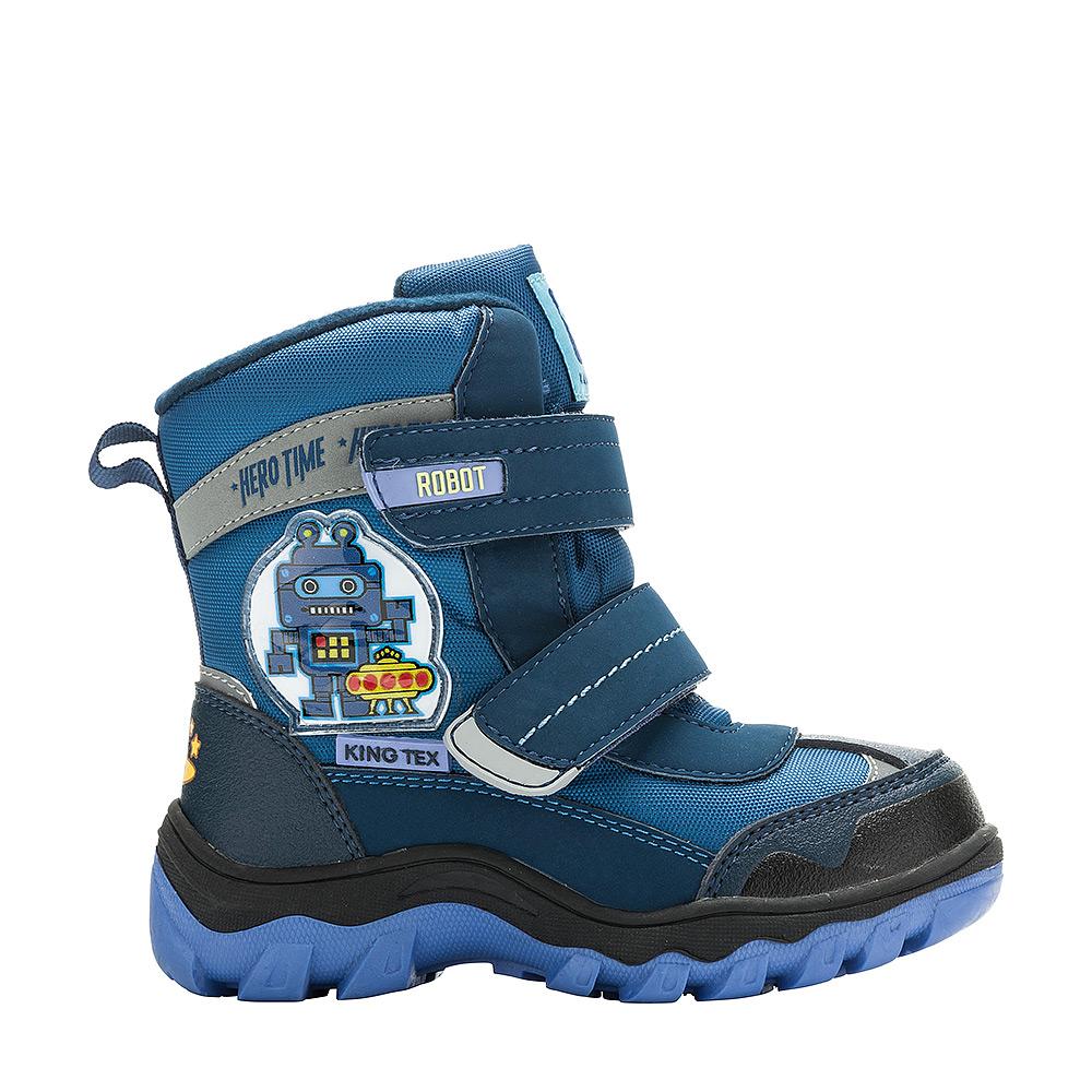 6497BБотинки от Kakadu непременно понравится как маленьким непоседам, так и их заботливым родителям. Модель, выполненная из текстиля King Tex и синтетической кожи, гарантирует непромокаемость. Укрепленные носок и пятка обладают необходимой степенью жесткости для поддержания формы на протяжении всего периода использования. Подкладка из шерсти обеспечивает ногам тепло и сухость при любых климатических условиях. Съемную стельку всегда можно вынуть или заменить. Подошва из термопластичной резины отличается хорошей сцепляемостью с поверхностью и высокой пружинистостью. Благодаря этим качествам дети могут совершать длительные прогулки без чувства усталости в ногах. Застежки-липучки надежно фиксируют изделие на ноге.
