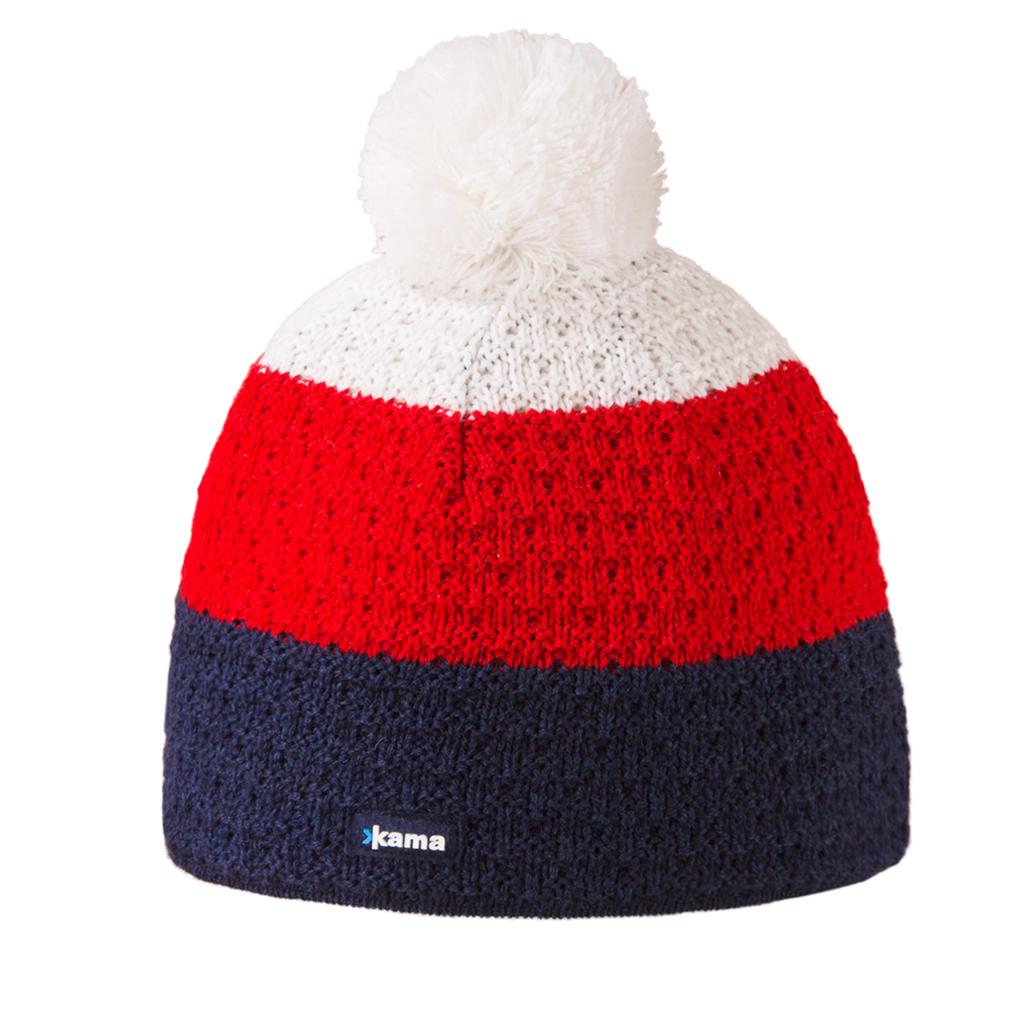 A50_101Теплая шапка с помпоном, с внутренней стороны изделия флисовая повязка для лучшего сохранения тепла.