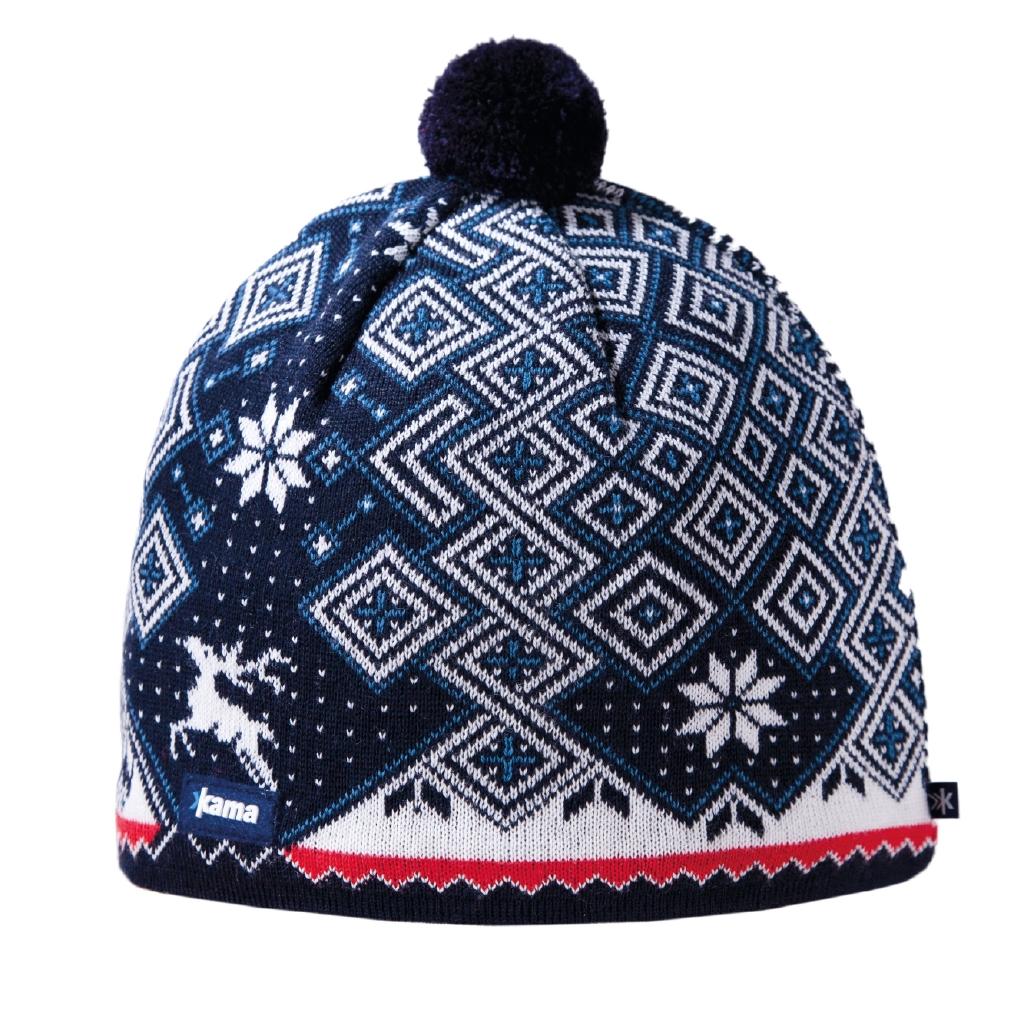 A58_100Теплая шапка с маленьким помпоном. Для лучшего сохранения тепла с внутренней стороны повязка, выполненная из нитей Thermolite.