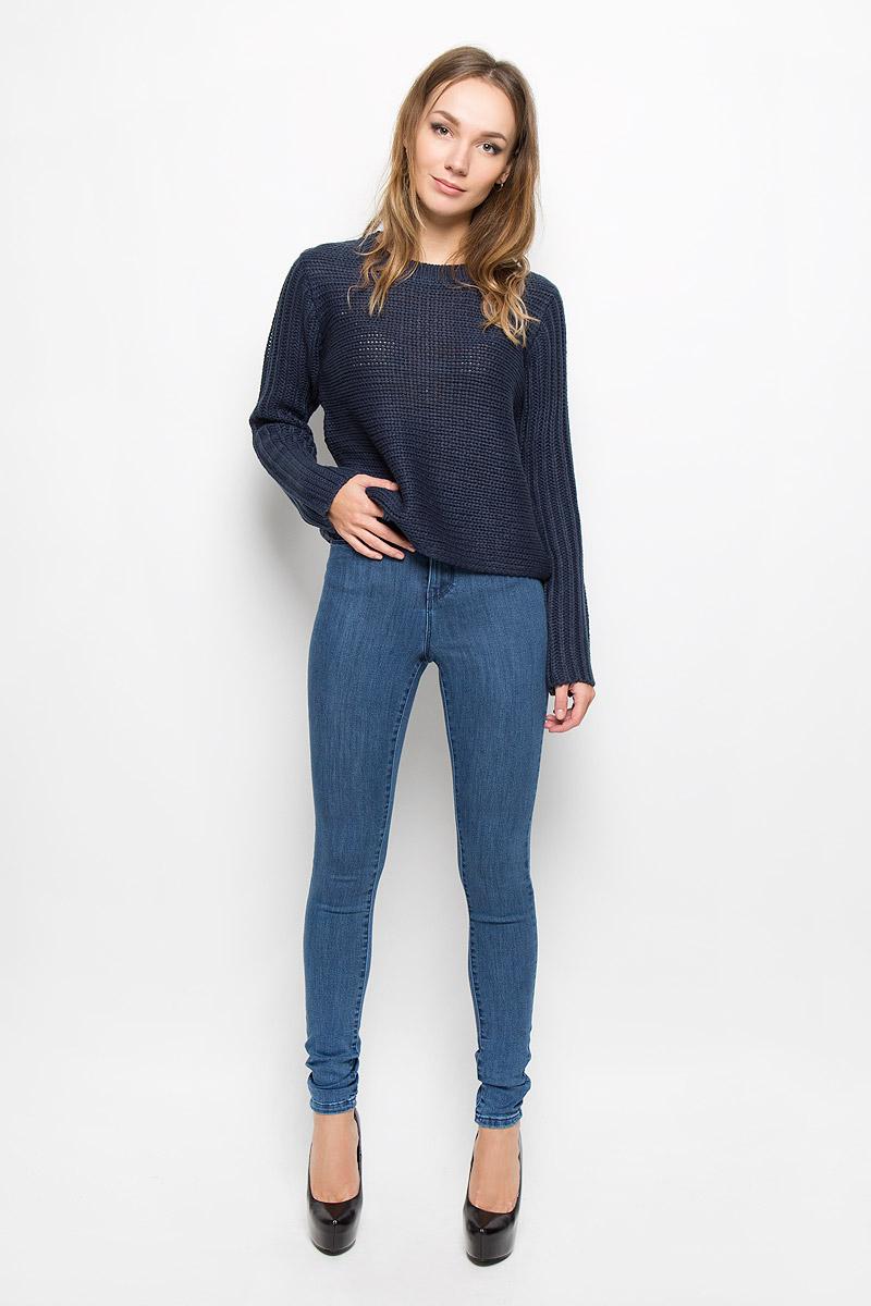 Пуловер10164804_Total EclipseСтильный женский пуловер Vero Moda, выполненный из высококачественного акрила, необычайно мягкий и приятный на ощупь, не сковывает движения, обеспечивая наибольший комфорт. Модель с круглым вырезом горловины и длинными рукавами великолепно сидит. Изделие выполнено крупной вязкой, ворот дополнен небольшой вязанной резинкой. Этот удобный и практичный пуловер станет отличным дополнением к вашему гардеробу. В нем вы всегда будете чувствовать себя уютно в прохладное время года.