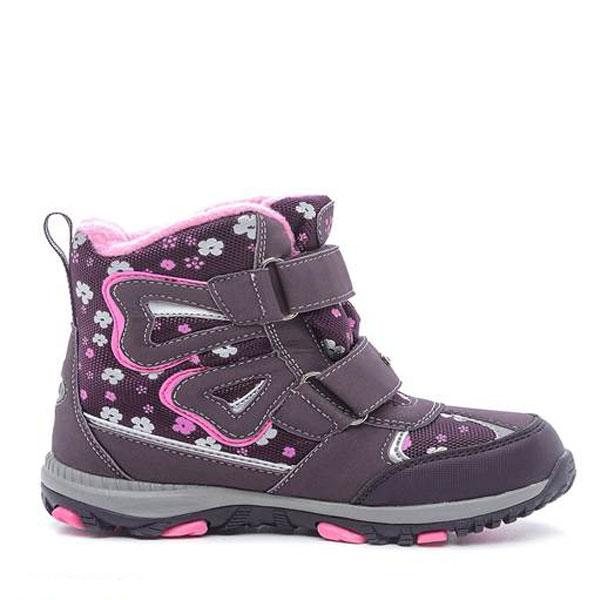 42166-2Ботинки от Kapika придутся по душе вашей девочке. Модель идеально подходит для зимы, сохраняет комфортный микроклимат в обуви как при ношении на улице, так и в помещении. Верх обуви изготовлен из искусственной кожи со вставками из водонепроницаемого текстиля, боковая сторона, язычок и верхний ремешок оформлены фирменным логотипом бренда. Два ремешка на застежке-липучке надежно зафиксируют изделие на ноге. Подкладка и стелька изготовлены из натуральной шерсти, что позволяет сохранить тепло и гарантирует уют ногам. Подошва с рифлением обеспечивает идеальное сцепление с любыми поверхностями. Такие чудесные ботинки займут достойное место в гардеробе вашего ребенка.