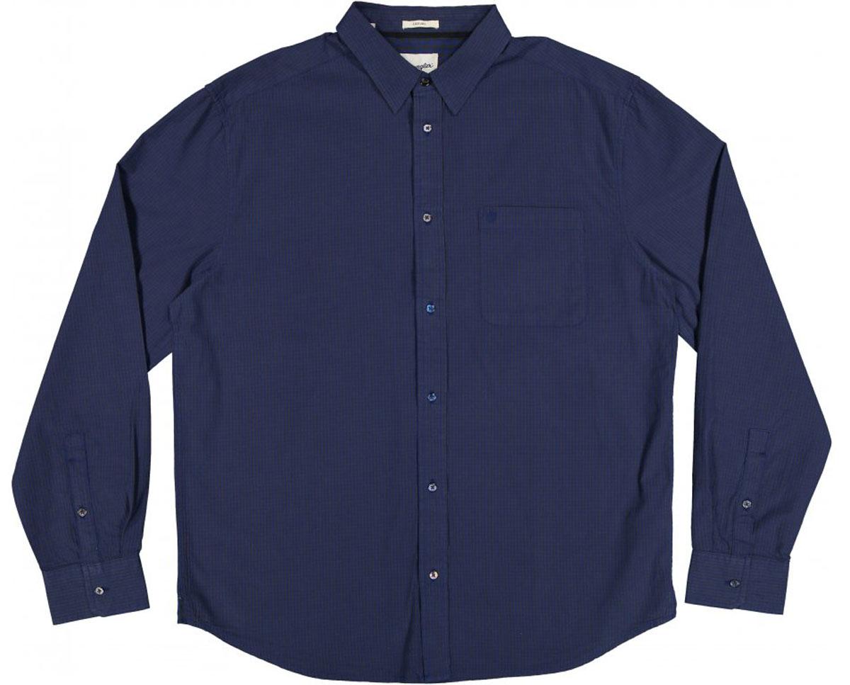 РубашкаW59309B16Стильная мужская рубашка Wrangler, выполненная из 100% хлопка, подчеркнет ваш уникальный стиль и поможет создать оригинальный образ. Рубашка с длинными рукавами и отложным воротником застегивается на пуговицы спереди. Рукава рубашки дополнены манжетами, которые также застегиваются на пуговицы. Модель выполнена стильным принтом в мелкую клетку. На груди рубашка дополнена накладным карманом с вышитым логотипом бренда.