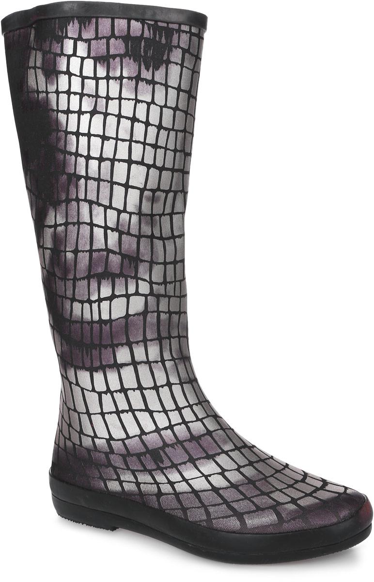 Резиновые сапогиKF75/BLACKРезиновые сапоги от Mon Ami изготовлены из высококачественной резины с текстильной поверхностью и оформлены оригинальным принтом под рептилию. Внутренняя поверхность и стелька изготовлены из мягкого текстиля, комфортного при движении. Подошва изготовлена из резины, а ее рифление гарантирует отличное сцепление с любой поверхностью.